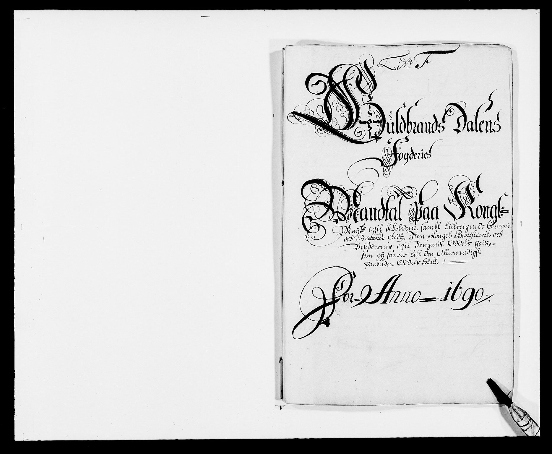 RA, Rentekammeret inntil 1814, Reviderte regnskaper, Fogderegnskap, R17/L1165: Fogderegnskap Gudbrandsdal, 1690-1692, s. 106