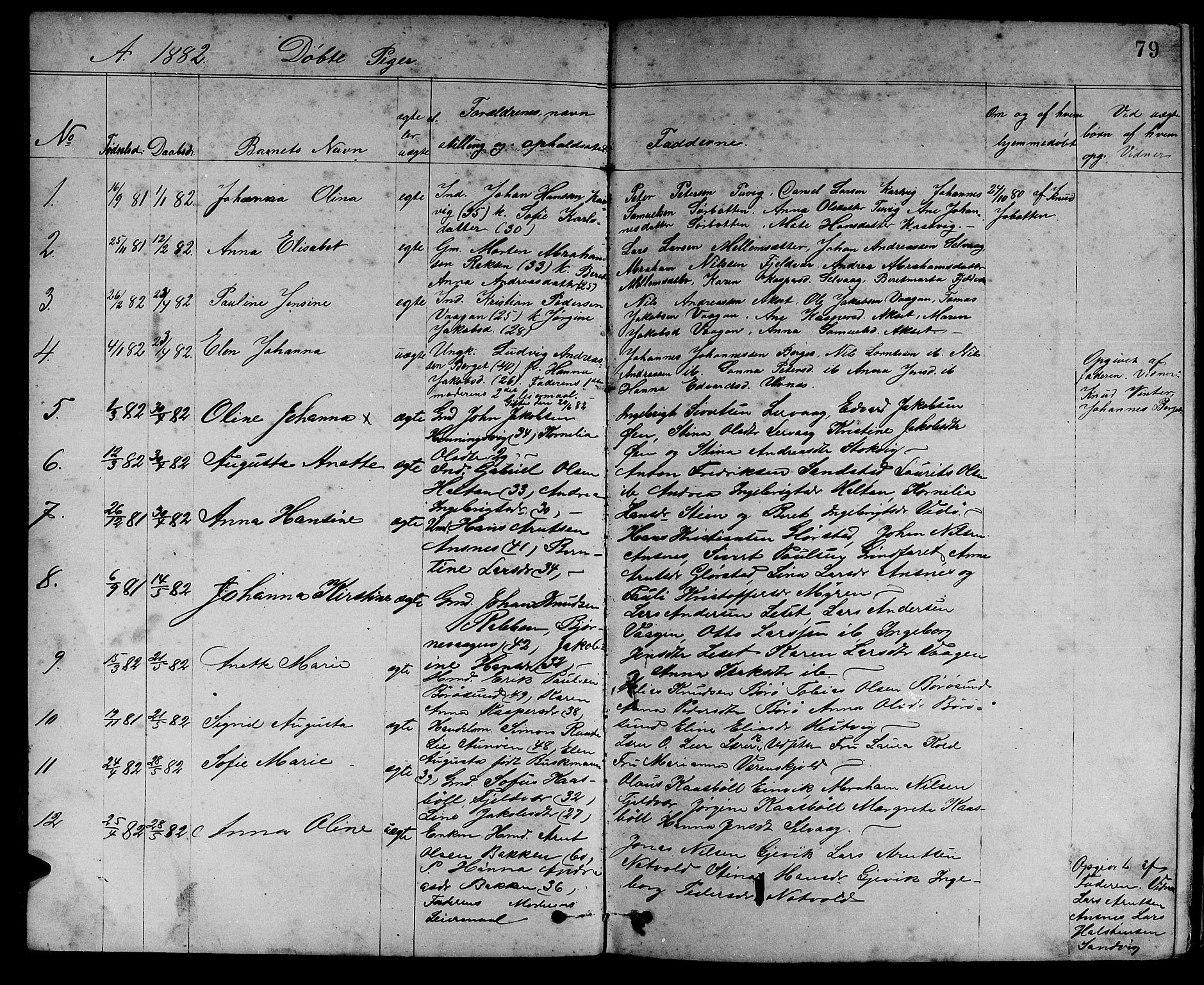 SAT, Ministerialprotokoller, klokkerbøker og fødselsregistre - Sør-Trøndelag, 637/L0561: Klokkerbok nr. 637C02, 1873-1882, s. 79