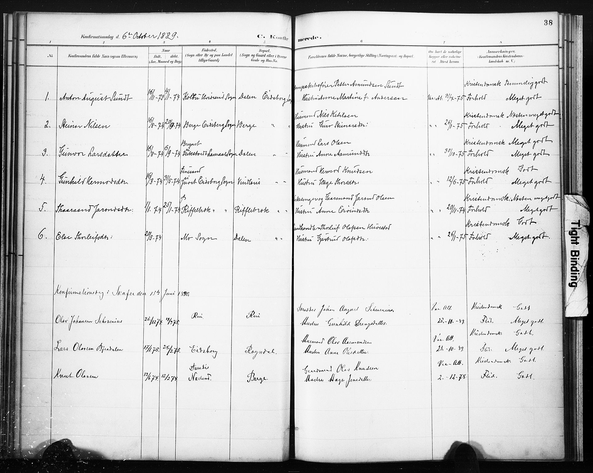 SAKO, Lårdal kirkebøker, F/Fb/L0002: Ministerialbok nr. II 2, 1887-1918, s. 38