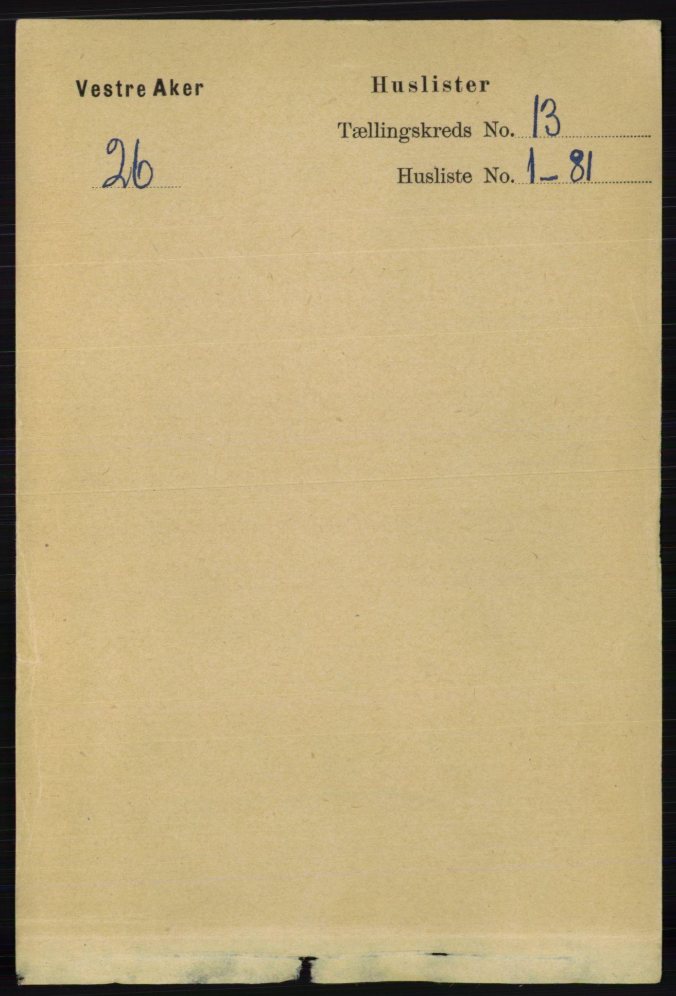RA, Folketelling 1891 for 0218 Aker herred, 1891, s. 12026
