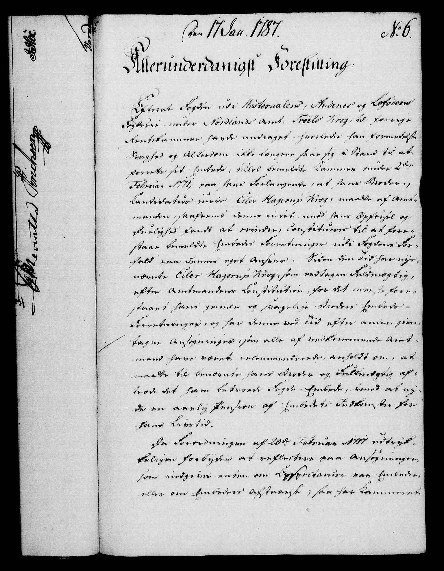RA, Rentekammeret, Kammerkanselliet, G/Gf/Gfa/L0069: Norsk relasjons- og resolusjonsprotokoll (merket RK 52.69), 1787, s. 58