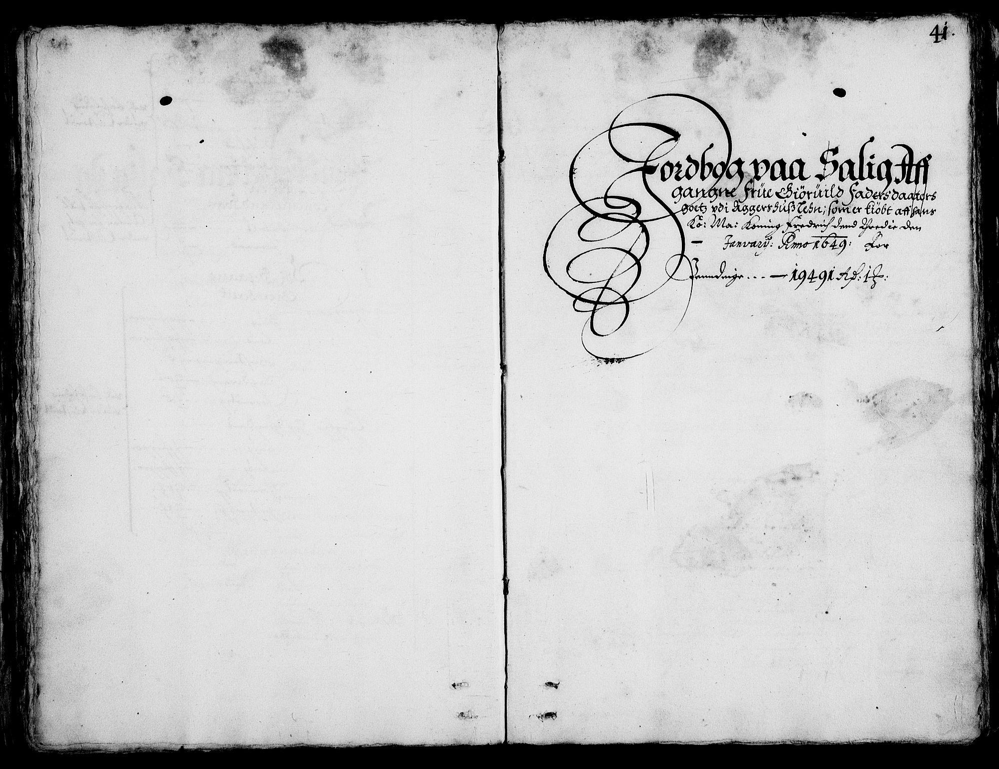 RA, Rentekammeret inntil 1814, Realistisk ordnet avdeling, On/L0001: Statens gods, 1651, s. 40b-41a