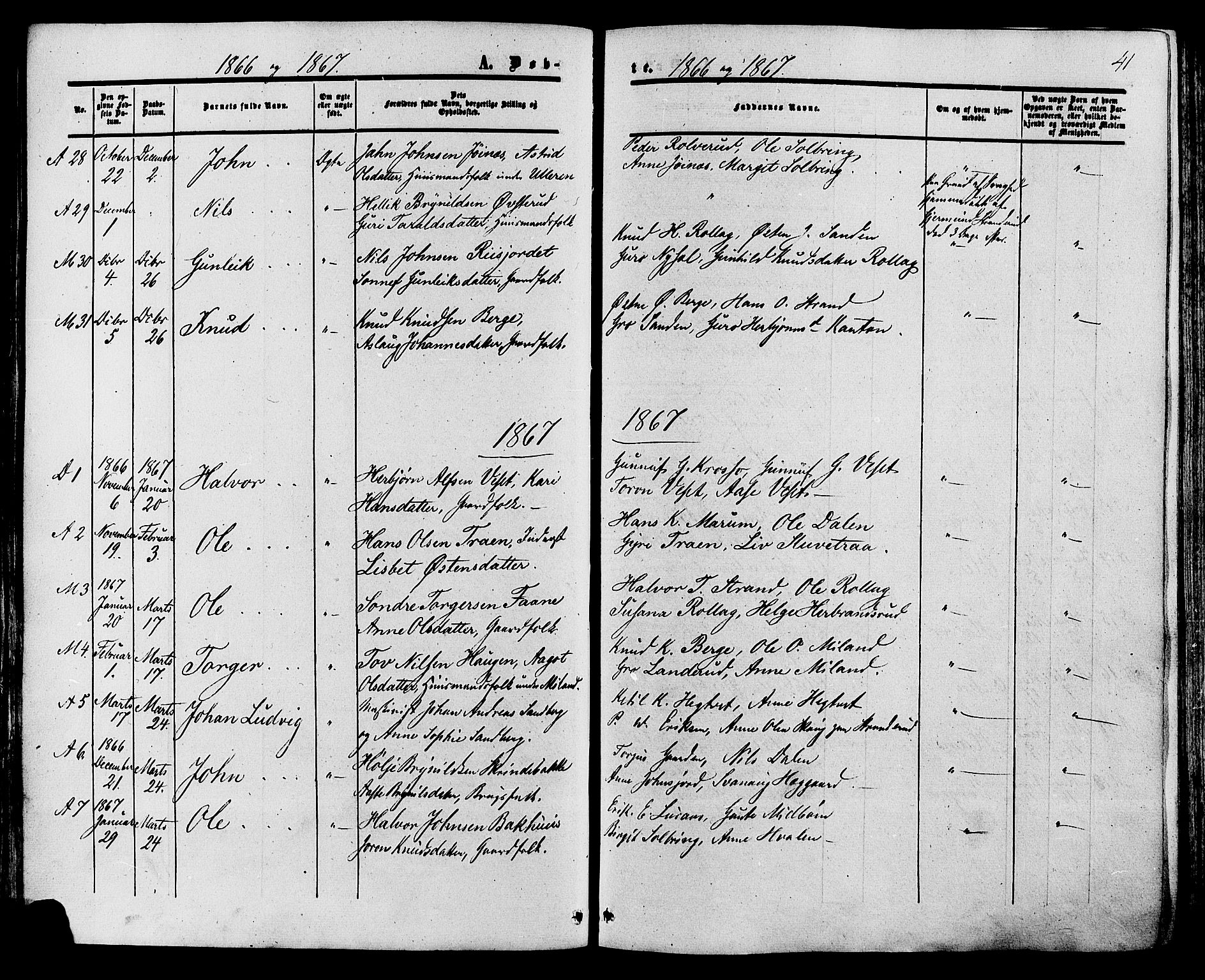 SAKO, Tinn kirkebøker, F/Fa/L0006: Ministerialbok nr. I 6, 1857-1878, s. 41