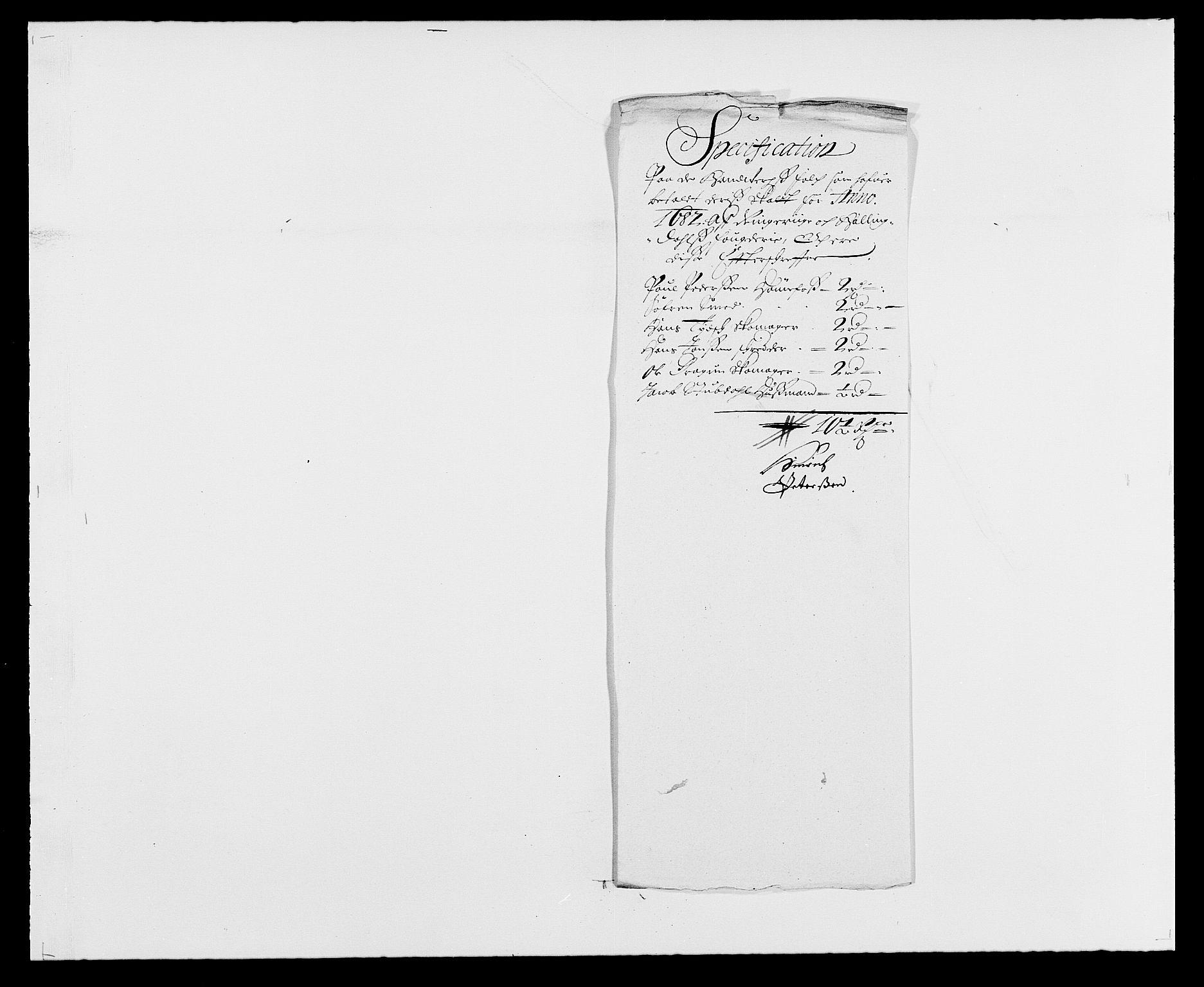 RA, Rentekammeret inntil 1814, Reviderte regnskaper, Fogderegnskap, R21/L1445: Fogderegnskap Ringerike og Hallingdal, 1681-1689, s. 376