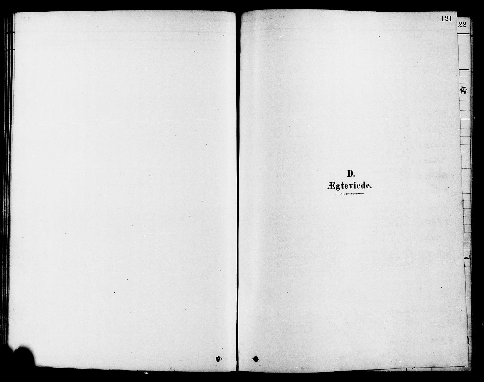 SAH, Søndre Land prestekontor, K/L0002: Ministerialbok nr. 2, 1878-1894, s. 121
