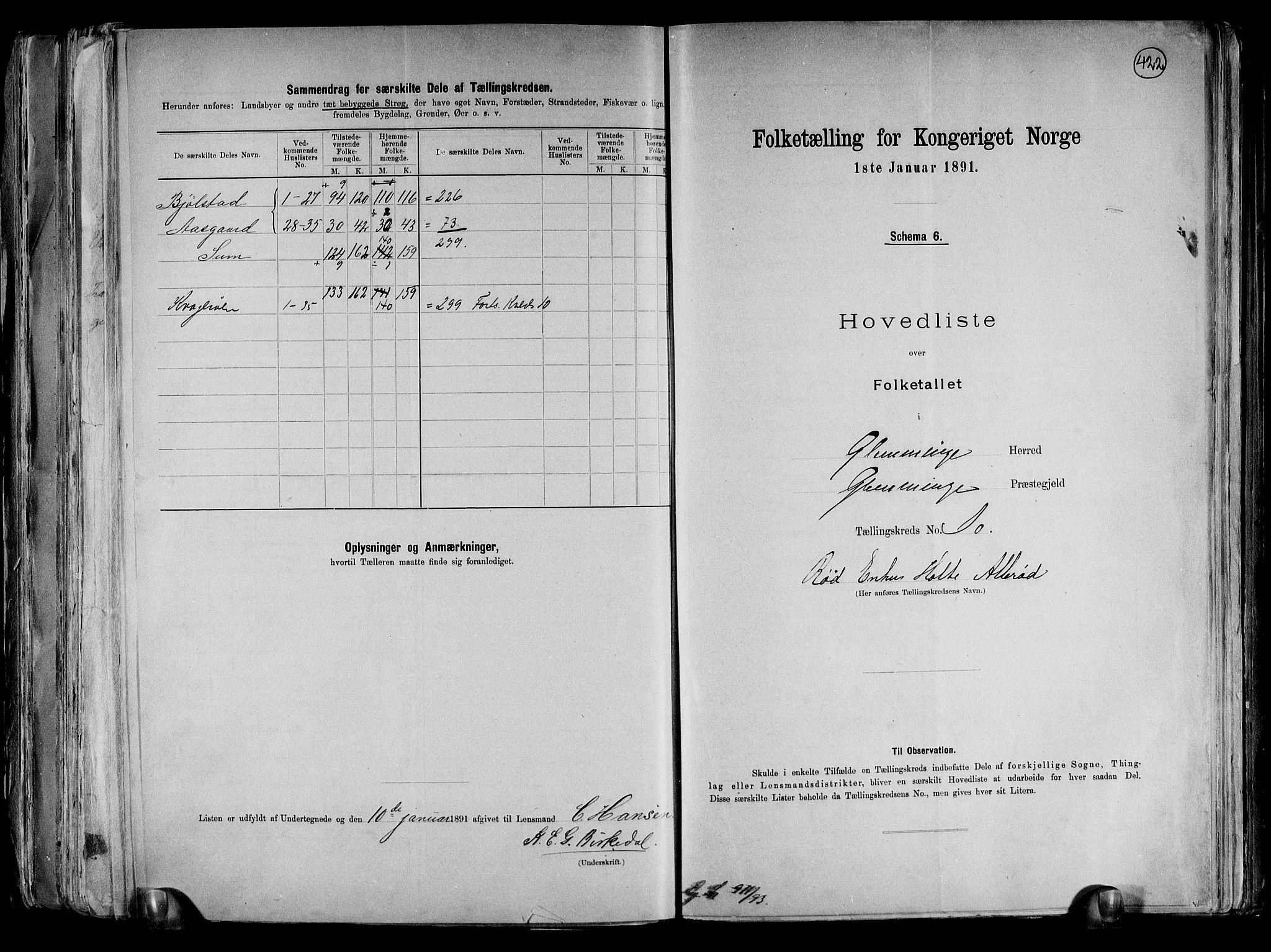 RA, Folketelling 1891 for 0132 Glemmen herred, 1891, s. 34