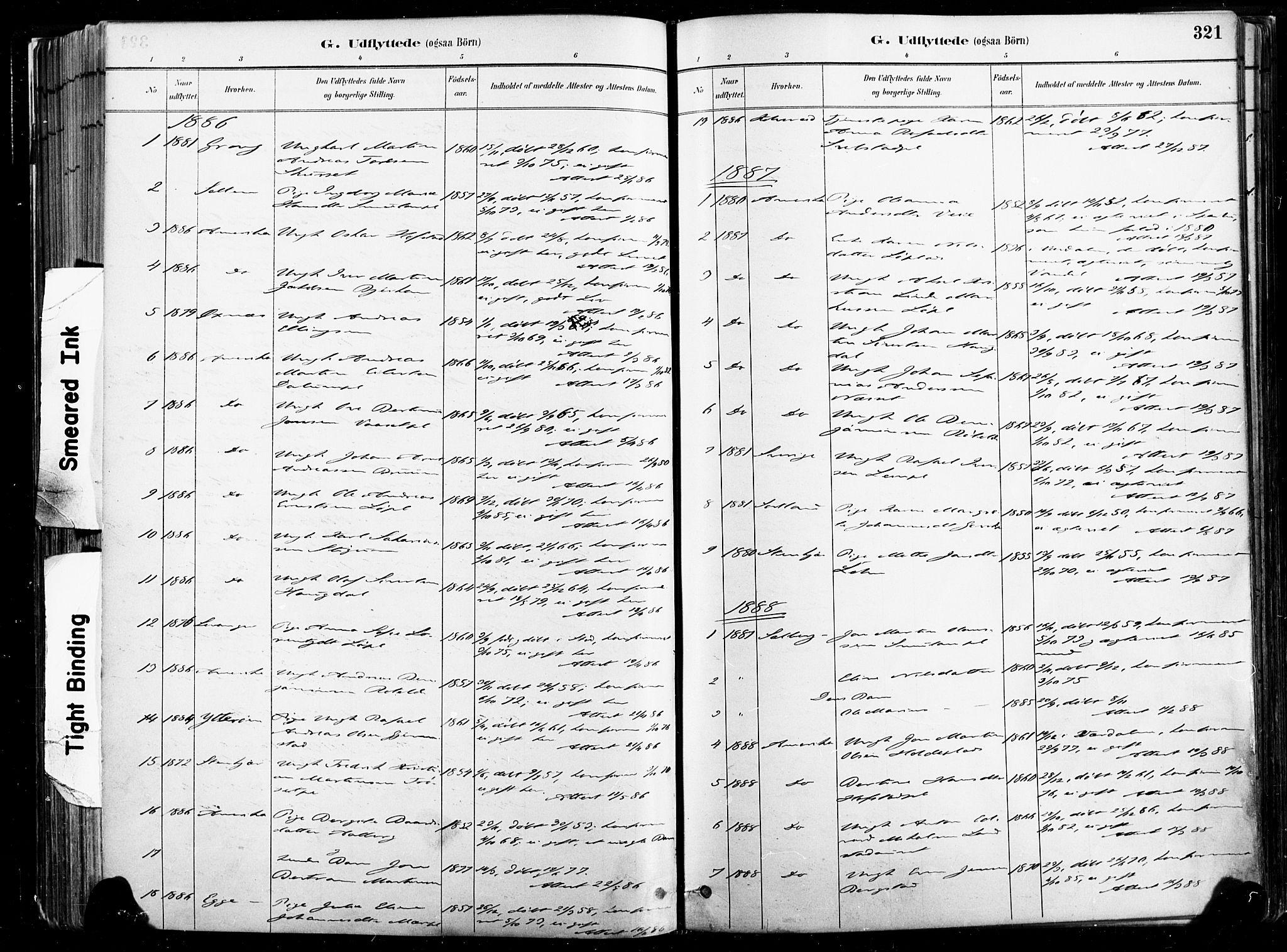 SAT, Ministerialprotokoller, klokkerbøker og fødselsregistre - Nord-Trøndelag, 735/L0351: Ministerialbok nr. 735A10, 1884-1908, s. 321