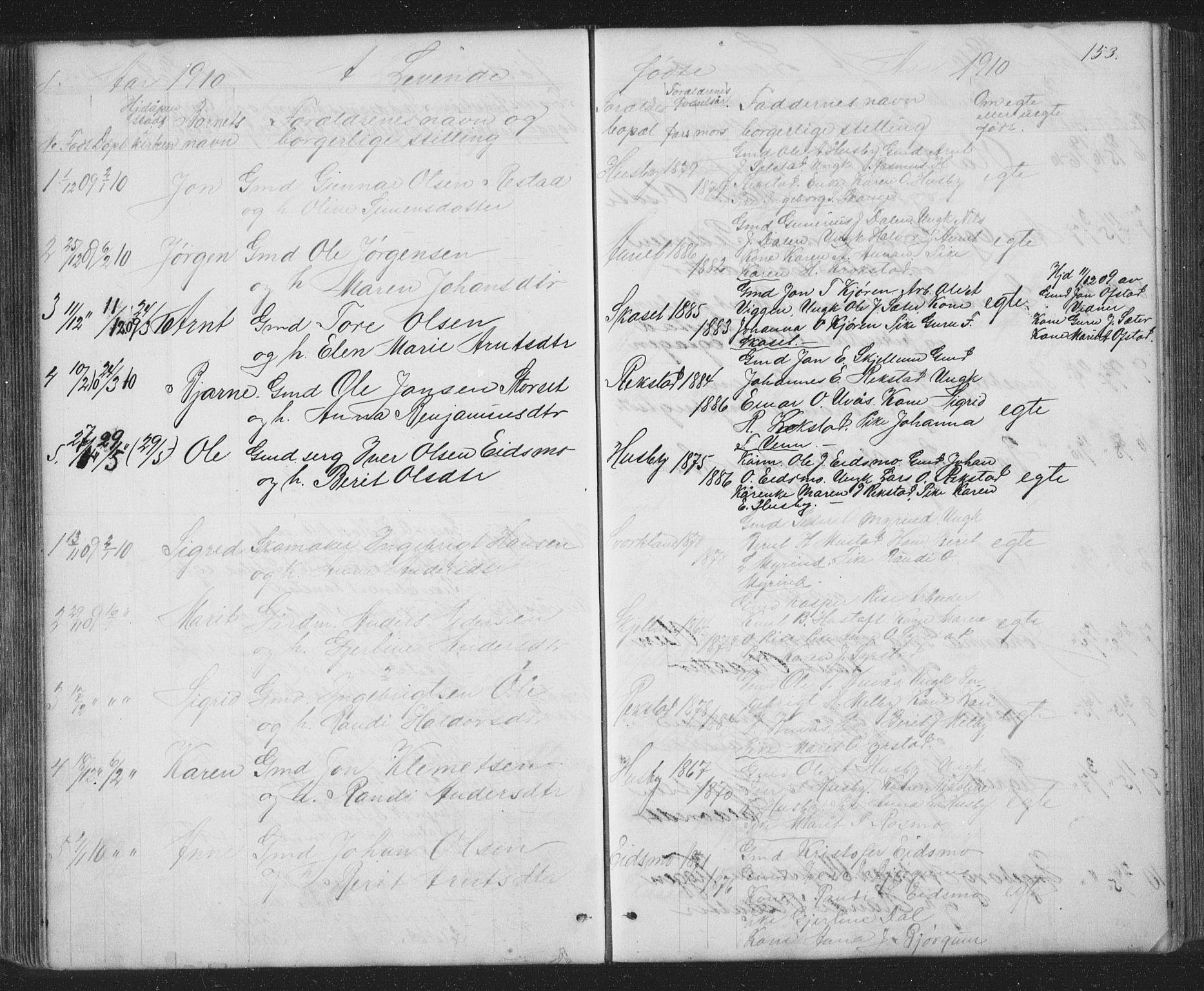 SAT, Ministerialprotokoller, klokkerbøker og fødselsregistre - Sør-Trøndelag, 667/L0798: Klokkerbok nr. 667C03, 1867-1929, s. 153