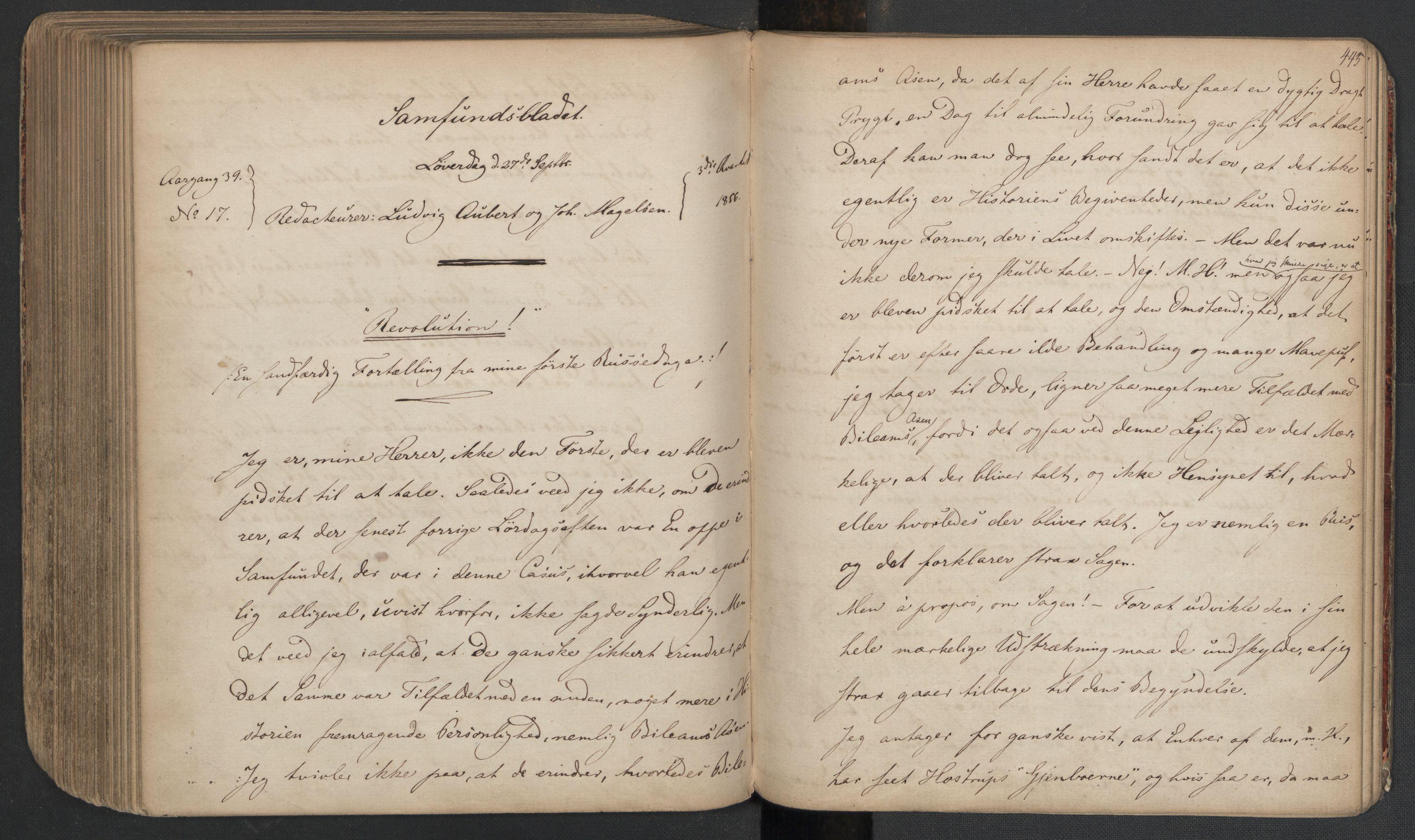 RA, Det Norske Studentersamfund, X/Xa/L0005, 1855-1856, s. 225