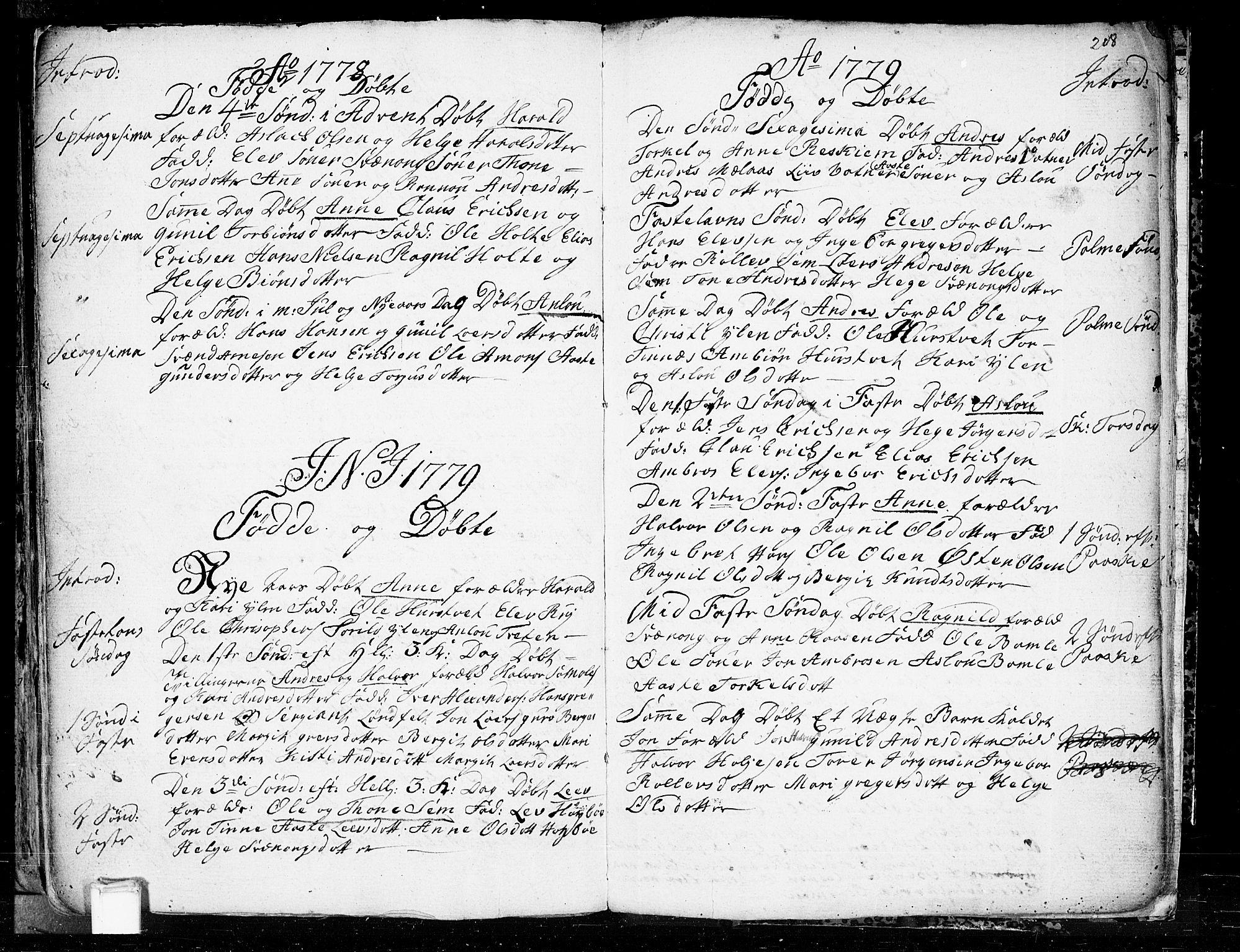 SAKO, Heddal kirkebøker, F/Fa/L0003: Ministerialbok nr. I 3, 1723-1783, s. 208