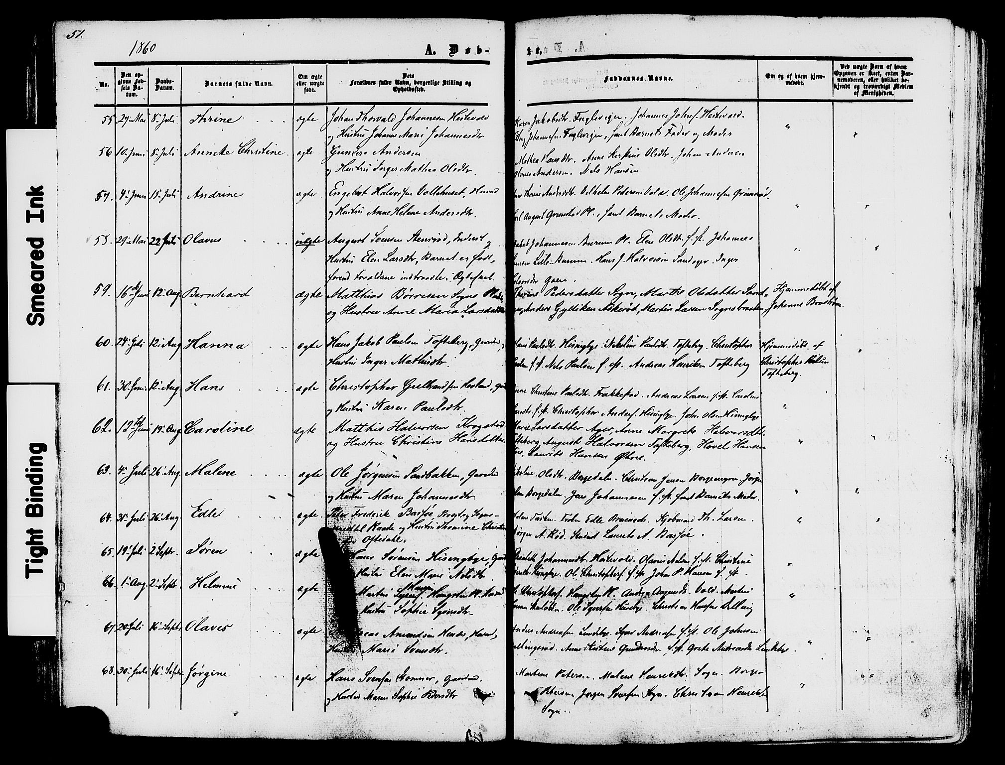 SAO, Råde prestekontor kirkebøker, F/Fa/L0006: Ministerialbok nr. 6, 1854-1877, s. 51