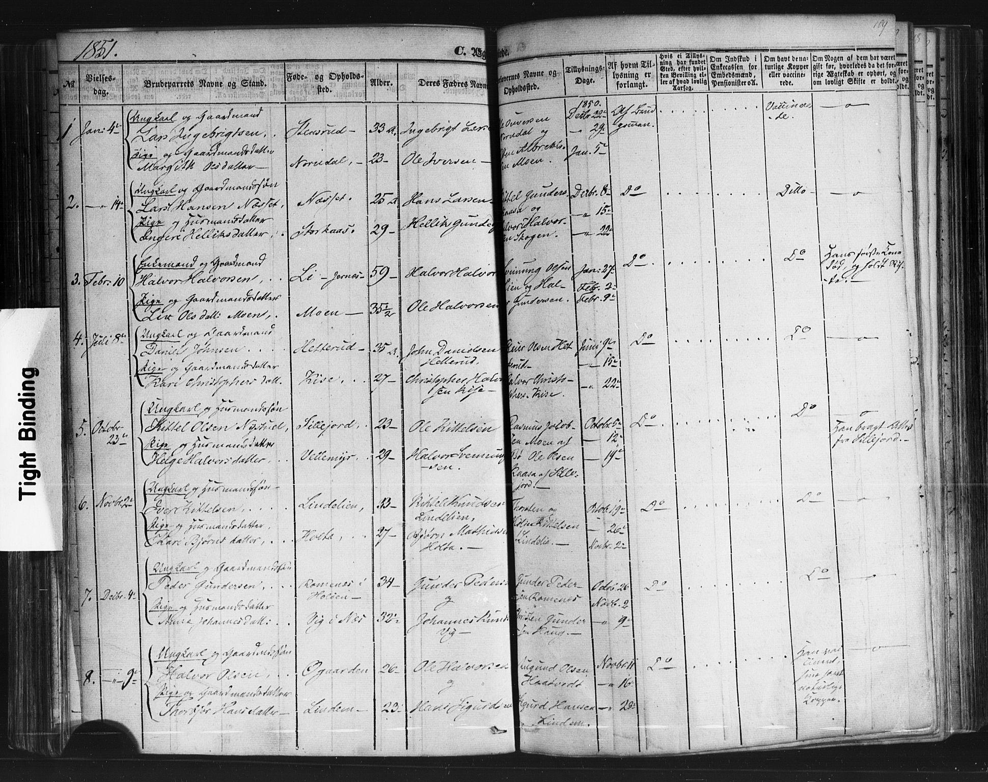 SAKO, Sauherad kirkebøker, F/Fb/L0001: Ministerialbok nr. II 1, 1851-1877, s. 109
