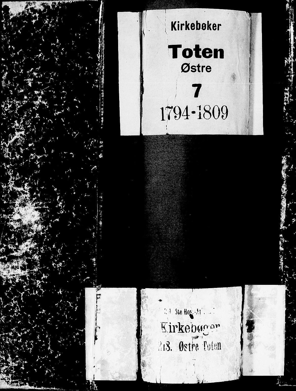 SAH, Toten prestekontor, Ministerialbok nr. 7, 1794-1809