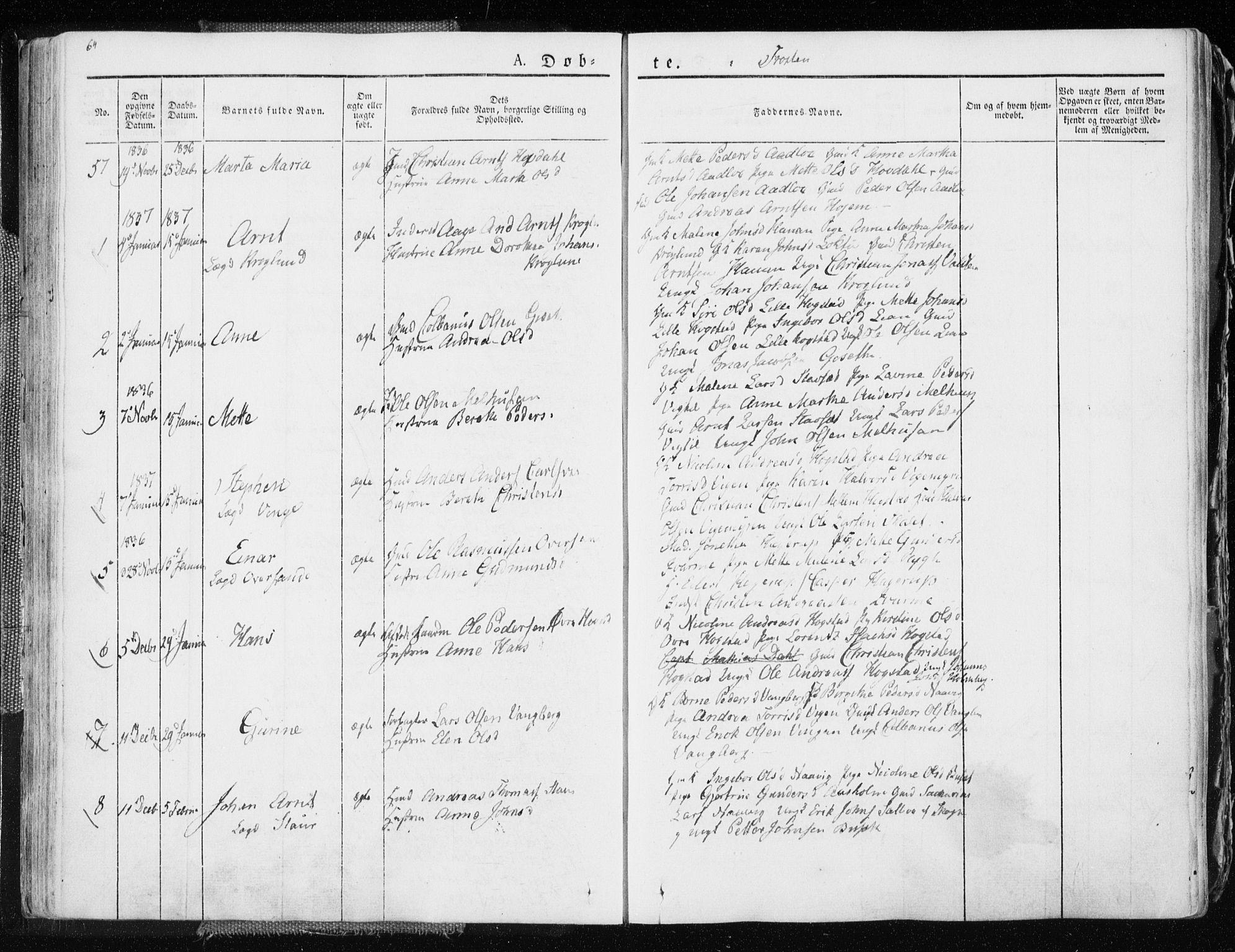 SAT, Ministerialprotokoller, klokkerbøker og fødselsregistre - Nord-Trøndelag, 713/L0114: Ministerialbok nr. 713A05, 1827-1839, s. 64