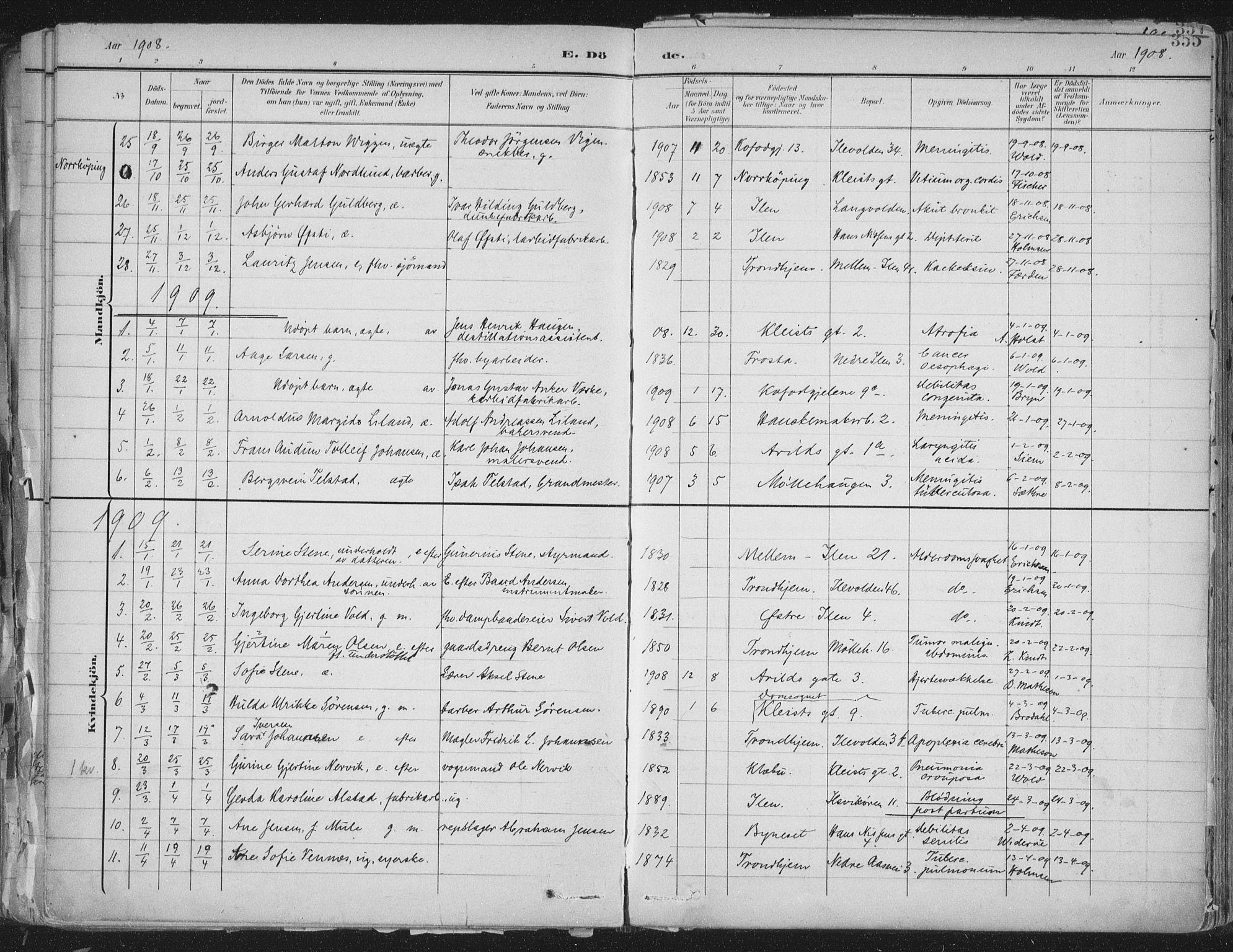 SAT, Ministerialprotokoller, klokkerbøker og fødselsregistre - Sør-Trøndelag, 603/L0167: Ministerialbok nr. 603A06, 1896-1932, s. 355