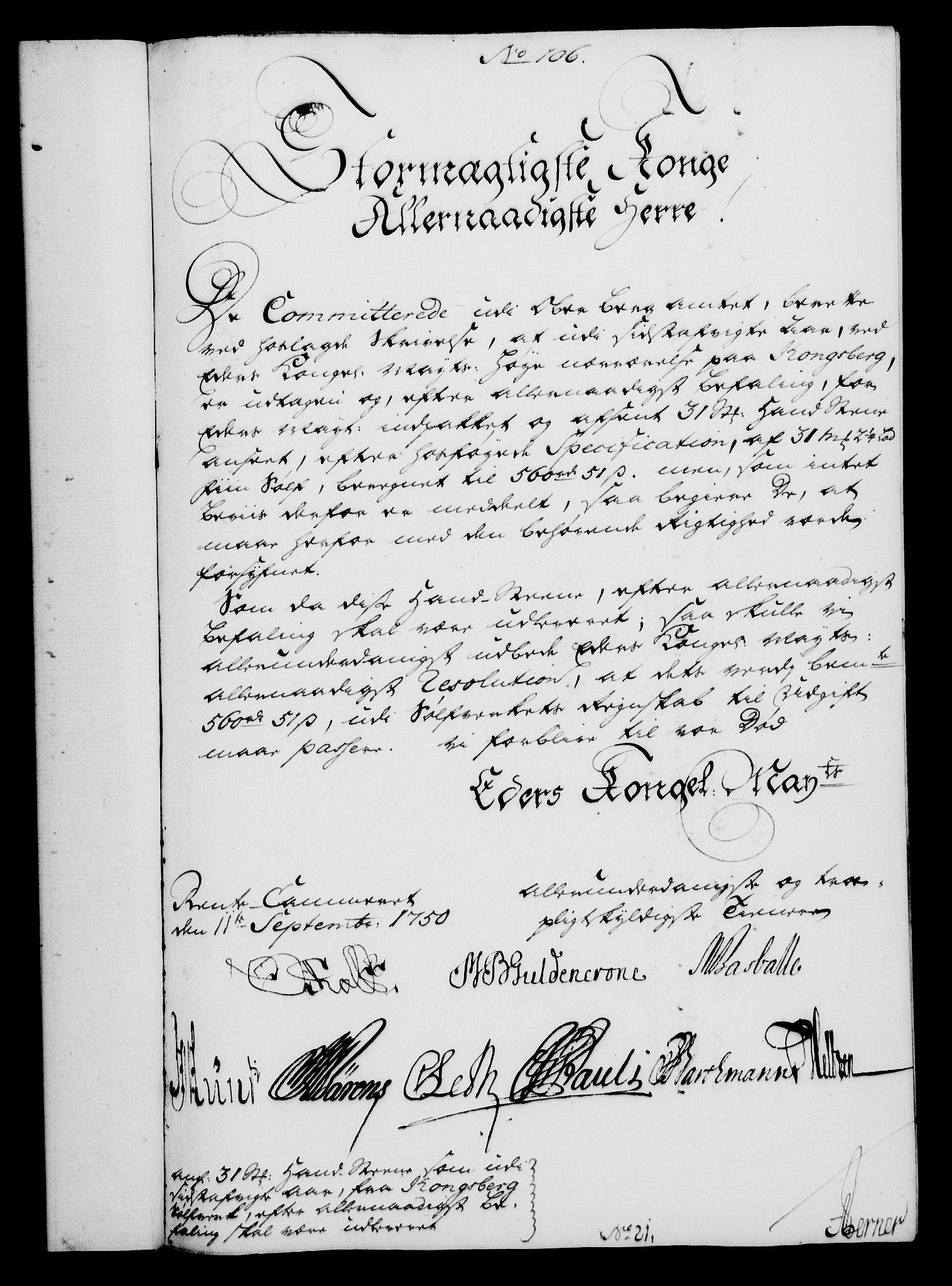 RA, Rentekammeret, Kammerkanselliet, G/Gf/Gfa/L0032: Norsk relasjons- og resolusjonsprotokoll (merket RK 52.32), 1750, s. 485