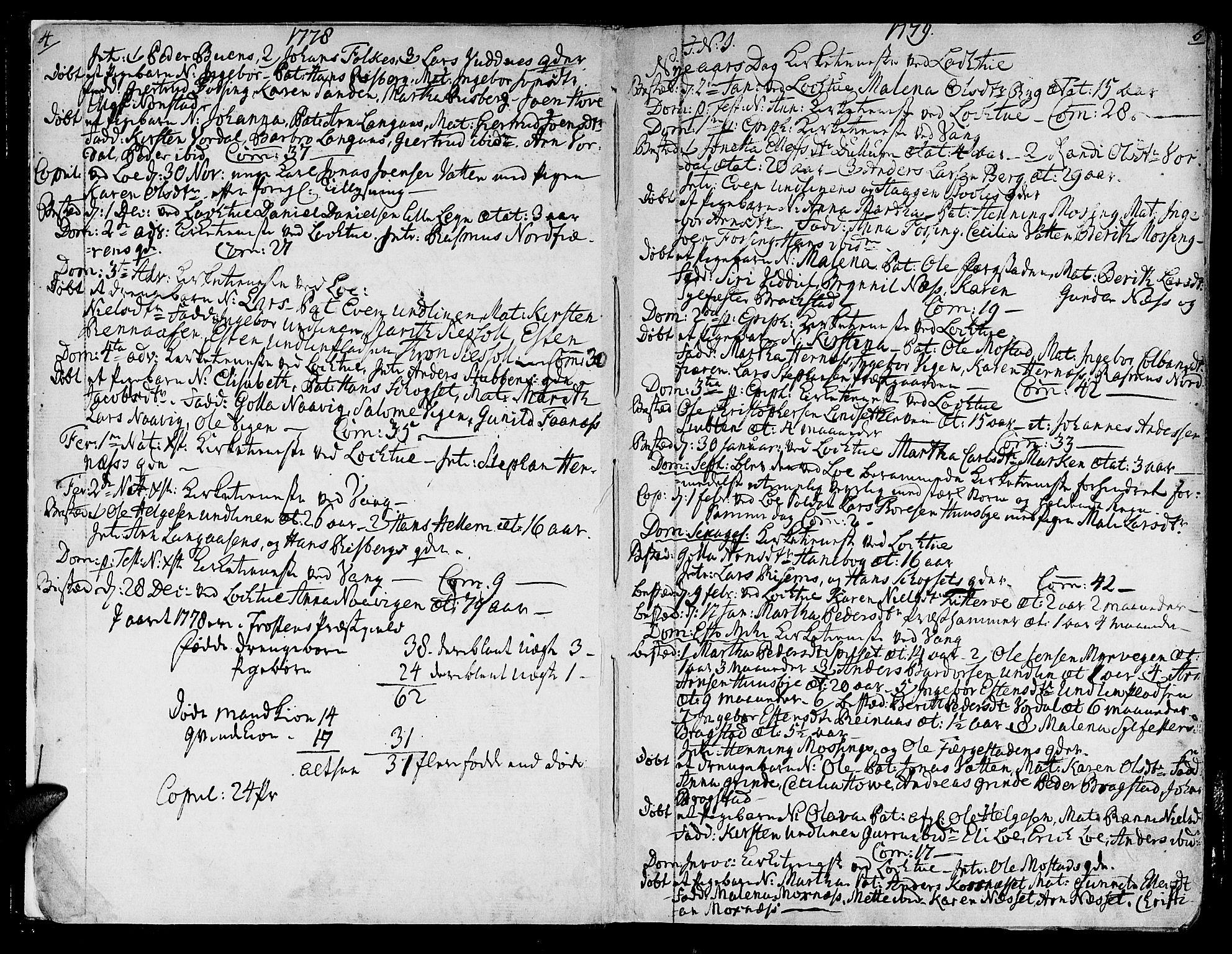 SAT, Ministerialprotokoller, klokkerbøker og fødselsregistre - Nord-Trøndelag, 713/L0110: Ministerialbok nr. 713A02, 1778-1811, s. 4-5