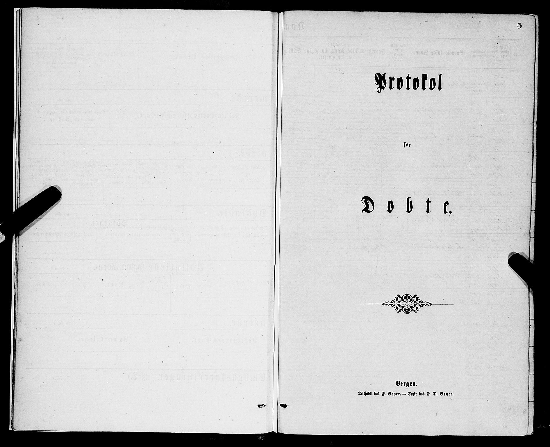 SAB, Domkirken sokneprestembete, H/Haa/L0022: Ministerialbok nr. B 5, 1872-1878, s. 4