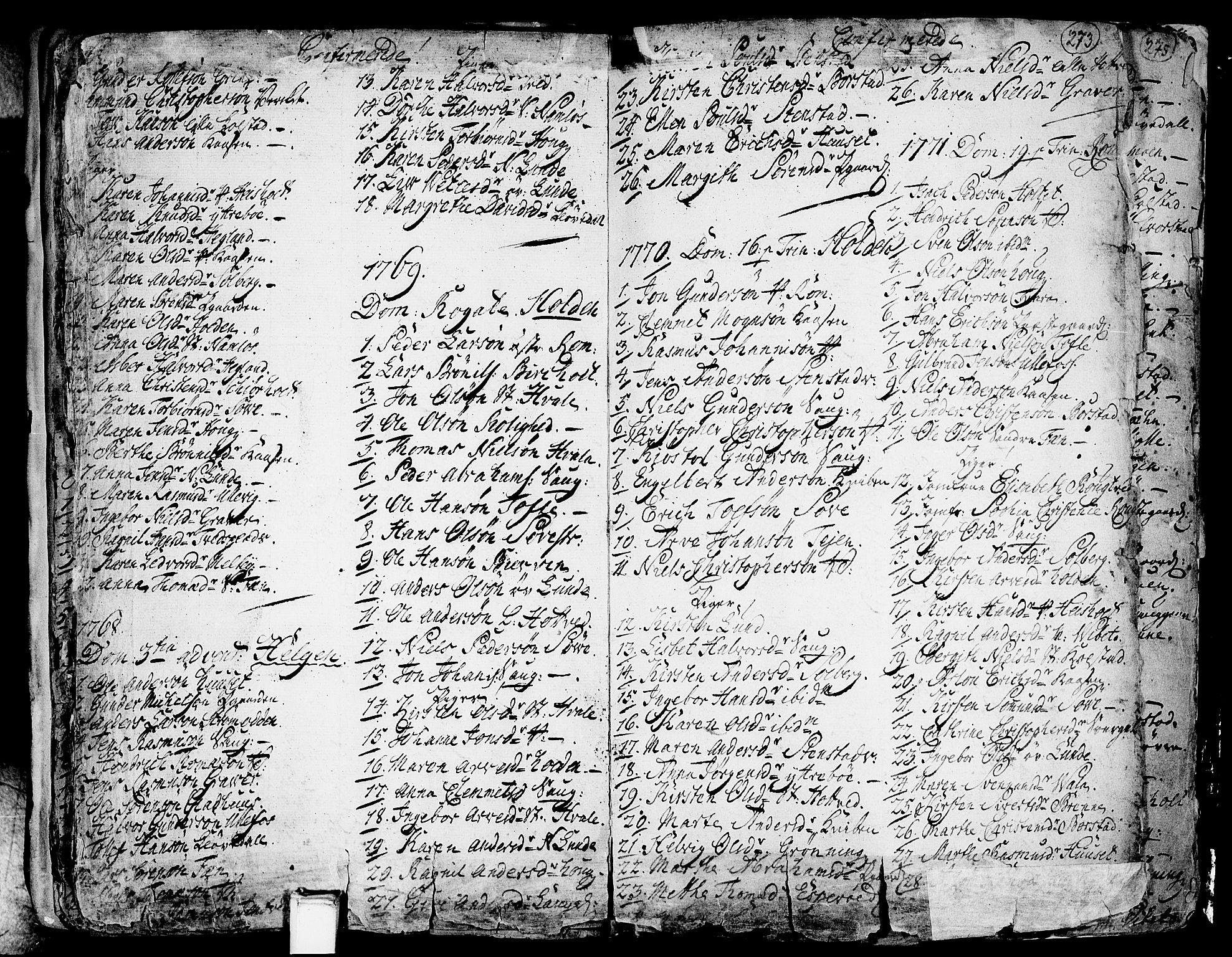 SAKO, Holla kirkebøker, F/Fa/L0001: Ministerialbok nr. 1, 1717-1779, s. 273