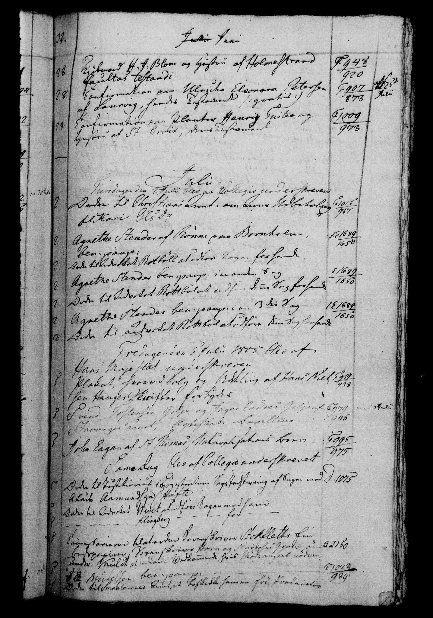RA, Danske Kanselli 1800-1814, H/Hf/Hfb/Hfbc/L0006: Underskrivelsesbok m. register, 1805, s. 32