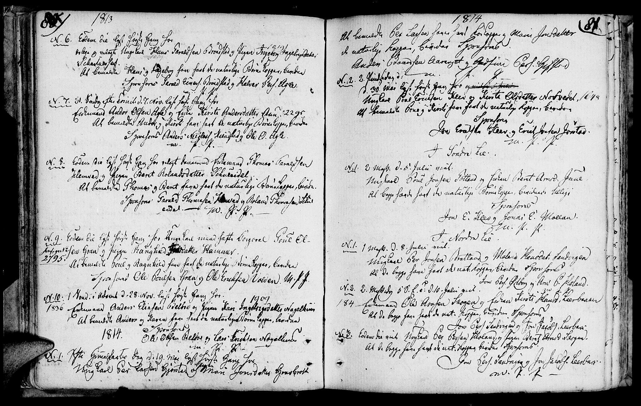 SAT, Ministerialprotokoller, klokkerbøker og fødselsregistre - Nord-Trøndelag, 749/L0468: Ministerialbok nr. 749A02, 1787-1817, s. 80-81