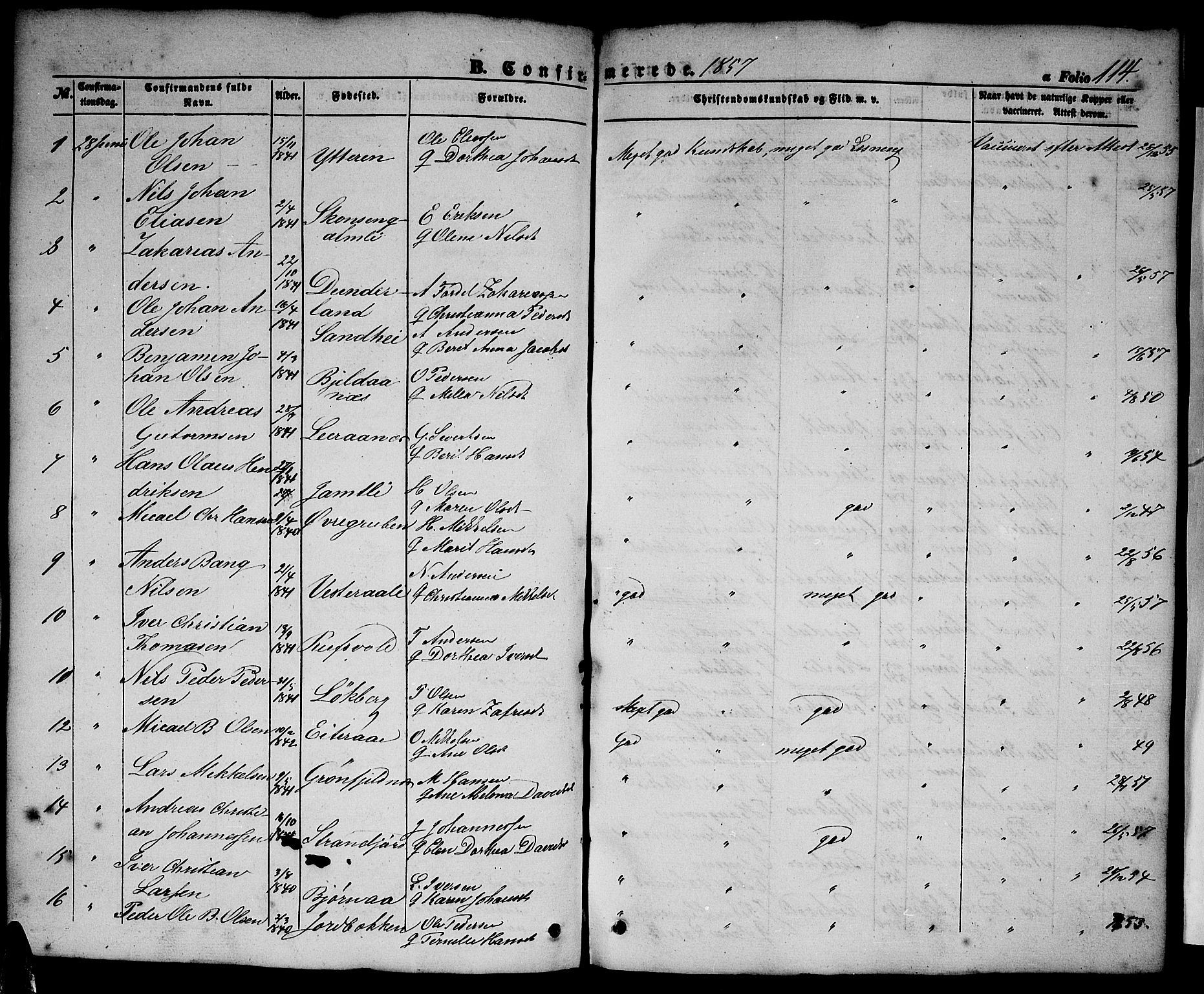 SAT, Ministerialprotokoller, klokkerbøker og fødselsregistre - Nordland, 827/L0414: Klokkerbok nr. 827C03, 1853-1865, s. 114