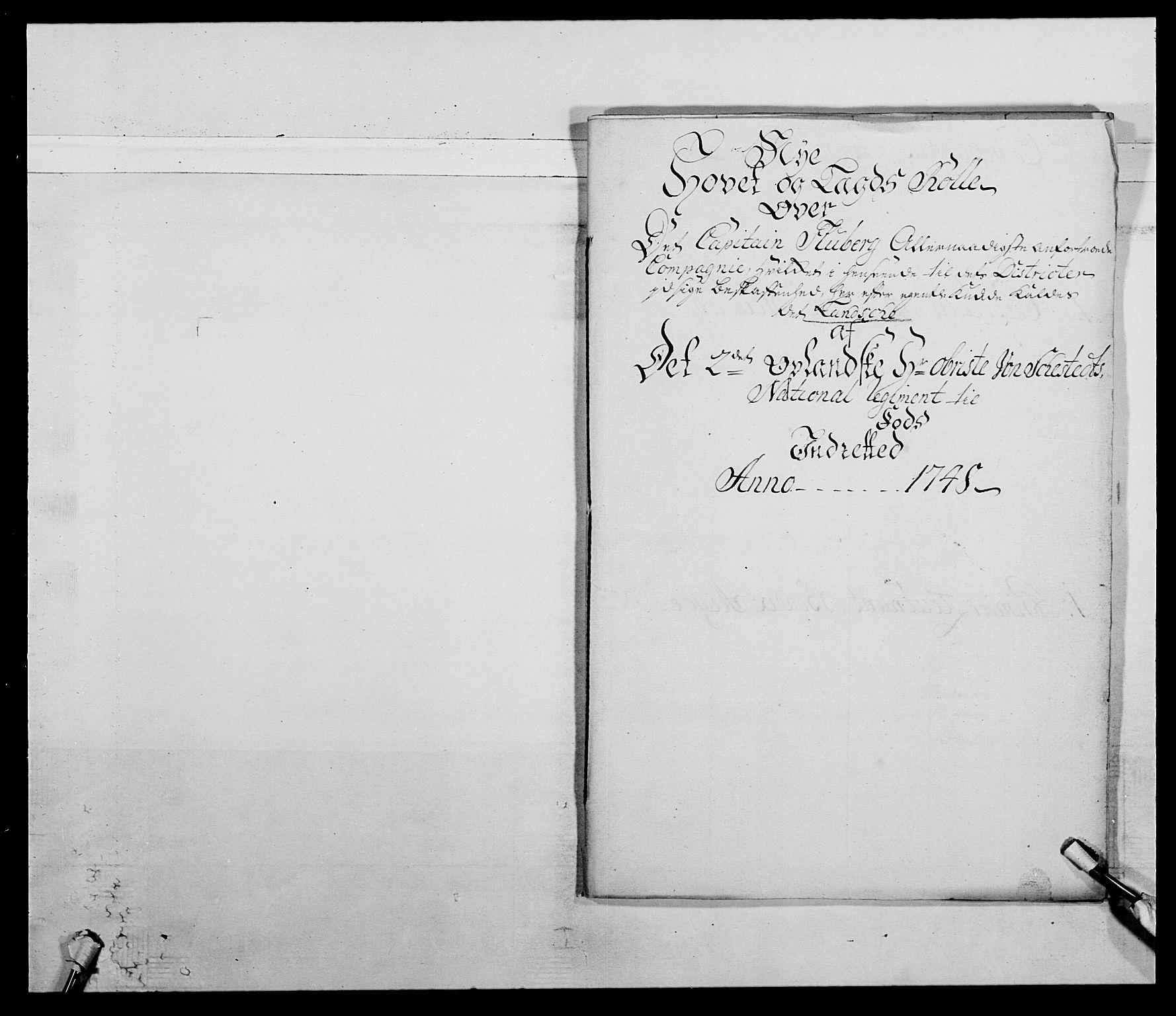 RA, Kommanderende general (KG I) med Det norske krigsdirektorium, E/Ea/L0505: 2. Opplandske regiment, 1748, s. 5