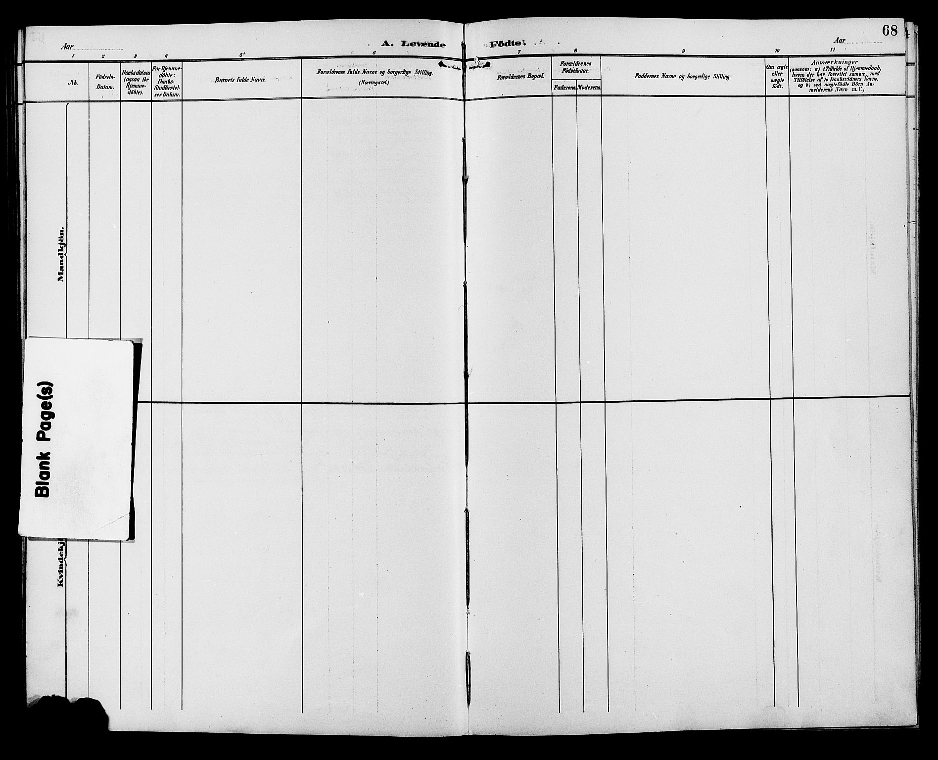 SAH, Ringebu prestekontor, Klokkerbok nr. 7, 1890-1910, s. 68