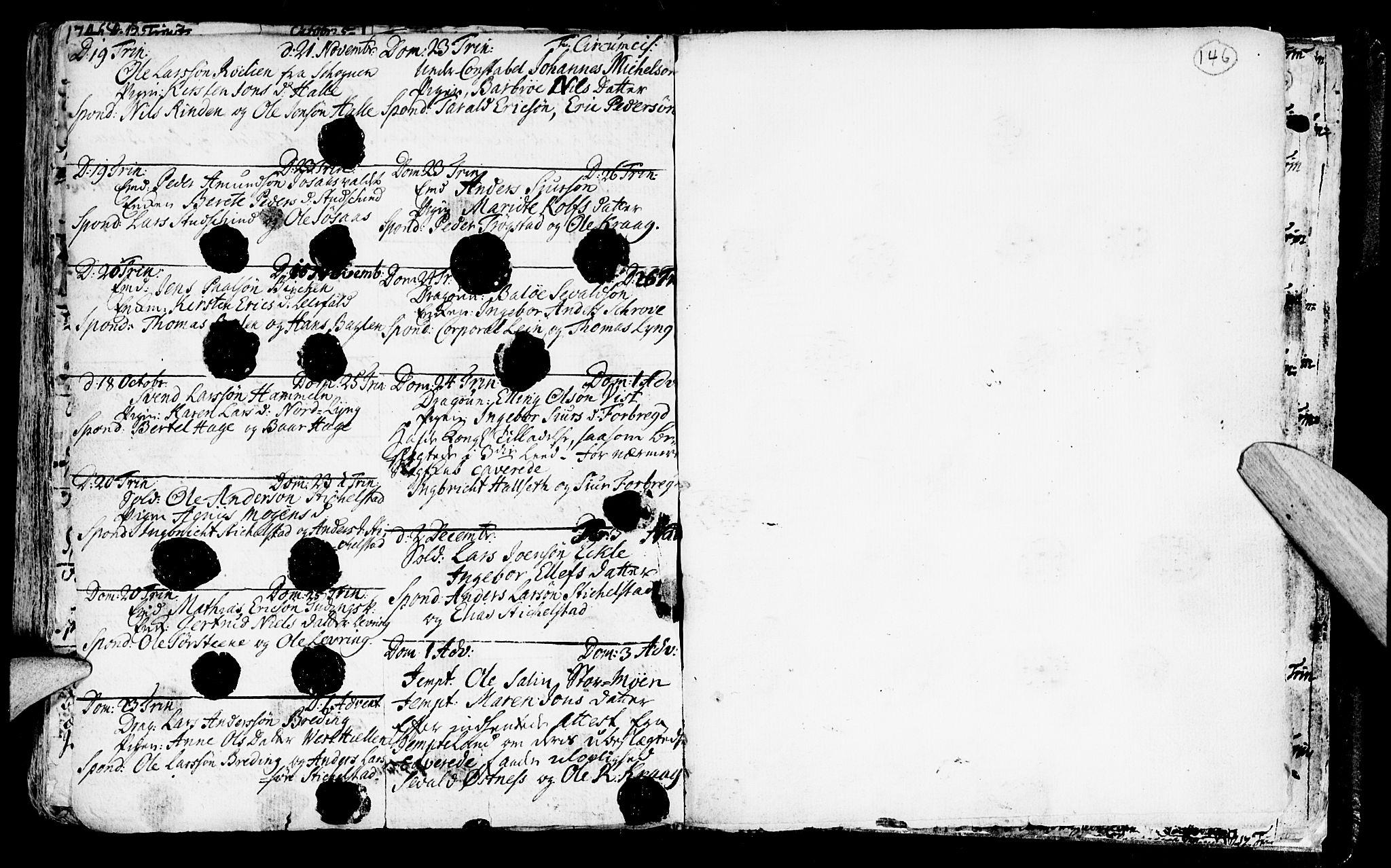 SAT, Ministerialprotokoller, klokkerbøker og fødselsregistre - Nord-Trøndelag, 723/L0230: Ministerialbok nr. 723A01, 1705-1747, s. 146
