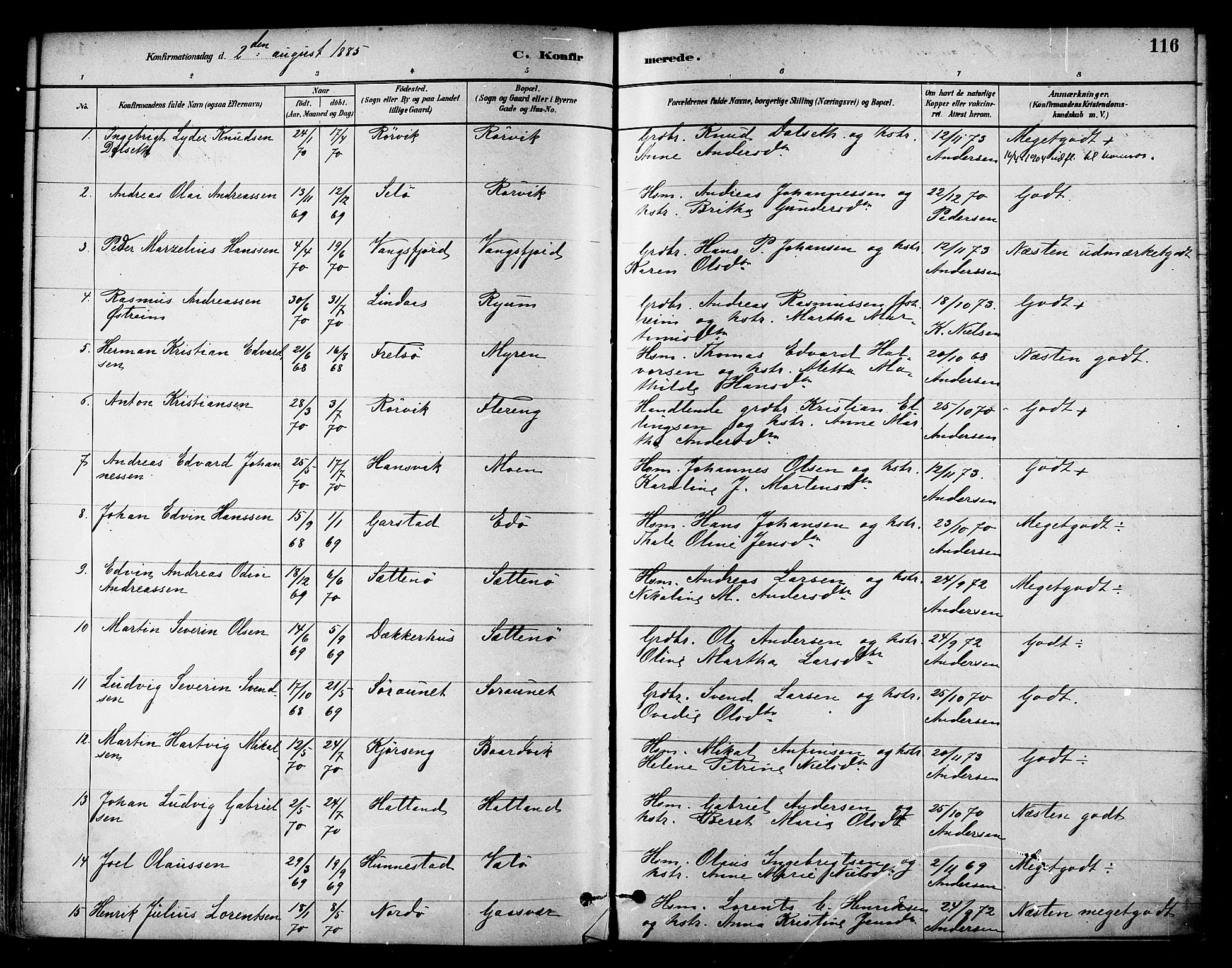 SAT, Ministerialprotokoller, klokkerbøker og fødselsregistre - Nord-Trøndelag, 786/L0686: Ministerialbok nr. 786A02, 1880-1887, s. 116