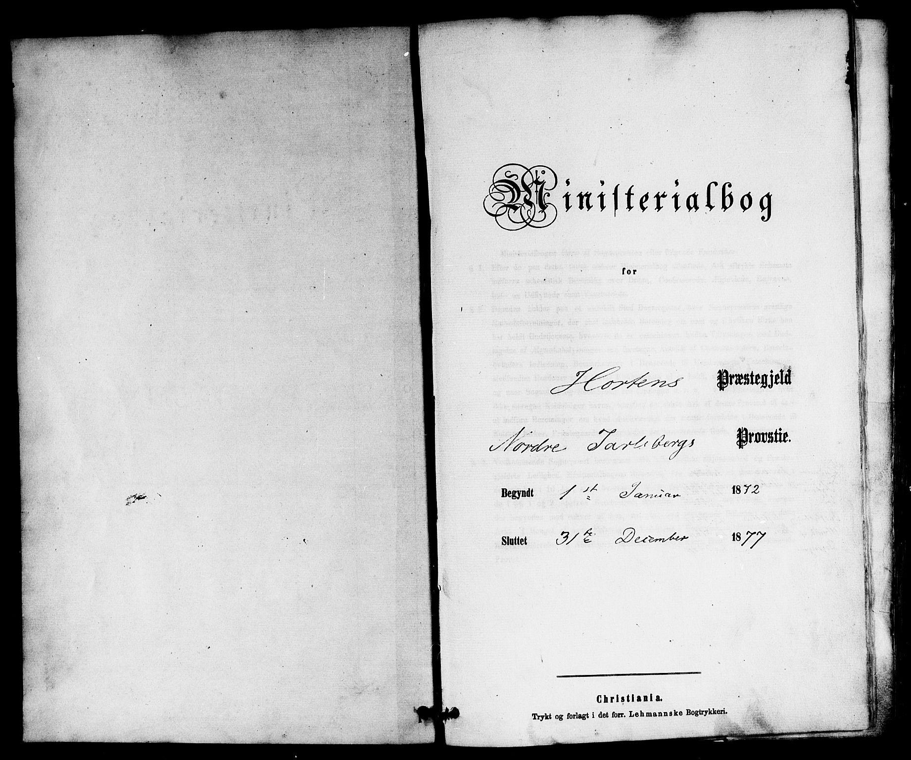SAKO, Horten kirkebøker, F/Fa/L0002: Ministerialbok nr. 2, 1872-1877