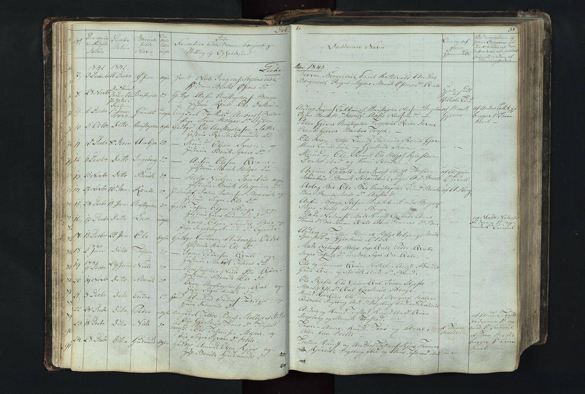 SAH, Vang prestekontor, Valdres, Klokkerbok nr. 4, 1835-1892, s. 38