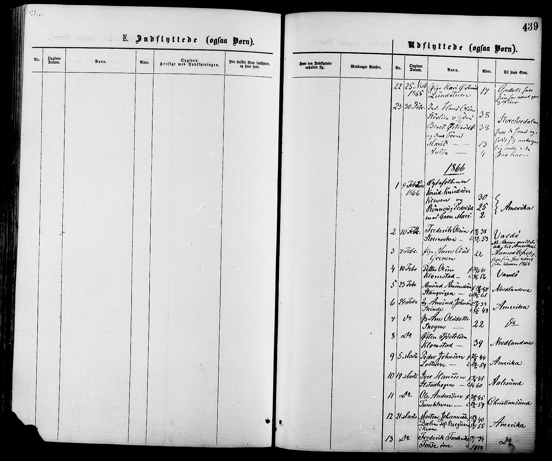 SAH, Nord-Fron prestekontor, Ministerialbok nr. 2, 1865-1883, s. 439