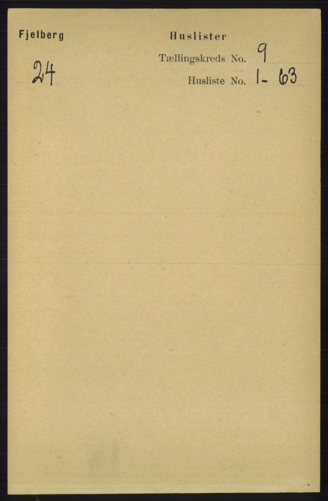 RA, Folketelling 1891 for 1213 Fjelberg herred, 1891, s. 3354
