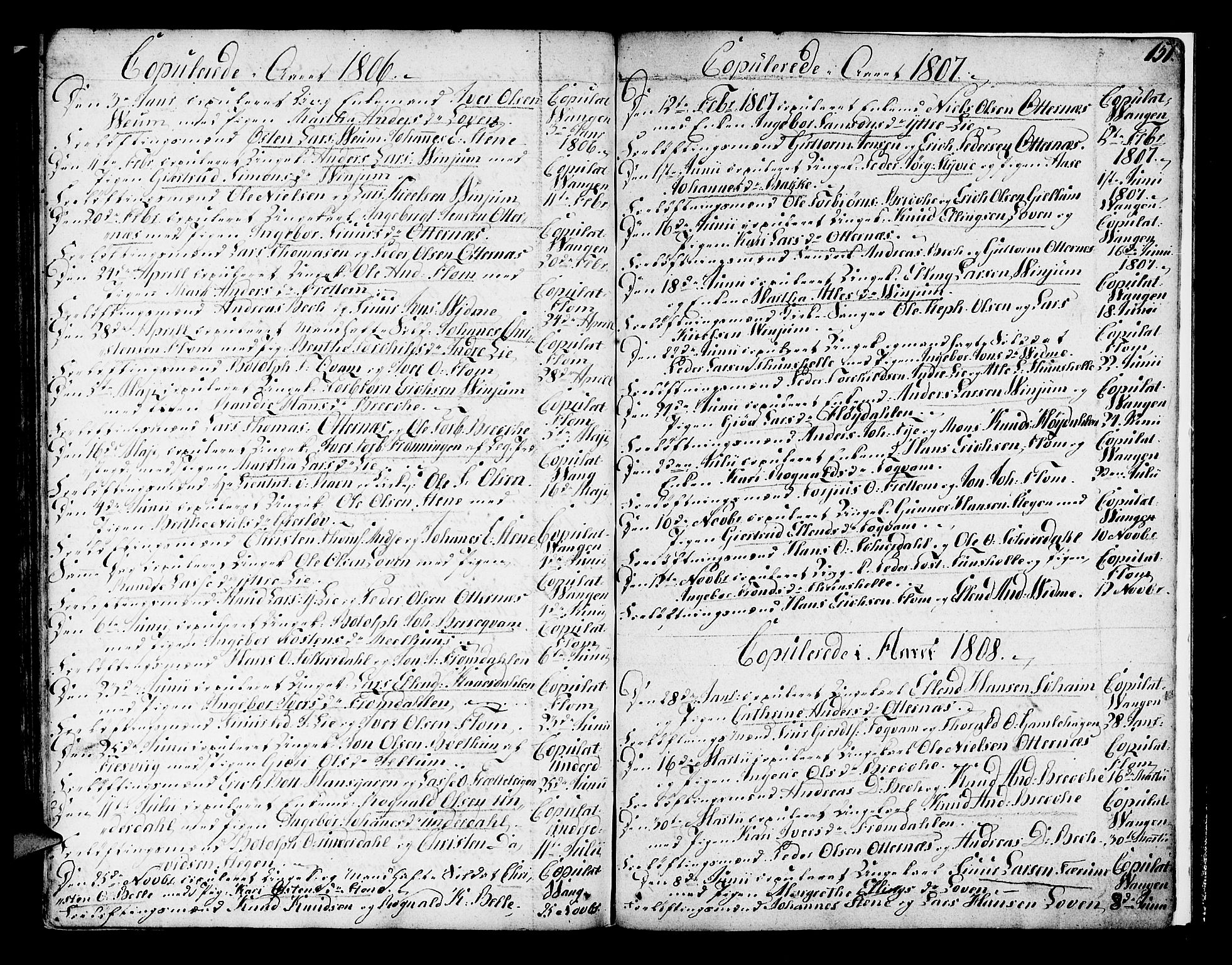 SAB, Aurland Sokneprestembete*, Ministerialbok nr. A 5, 1801-1821, s. 151
