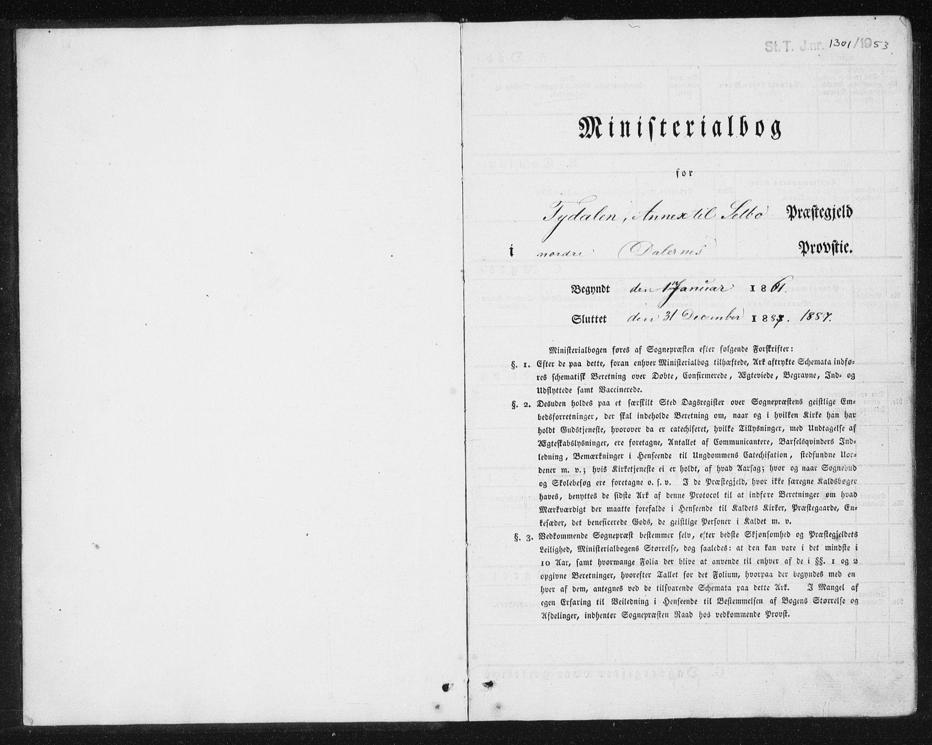 SAT, Ministerialprotokoller, klokkerbøker og fødselsregistre - Sør-Trøndelag, 698/L1166: Klokkerbok nr. 698C03, 1861-1887