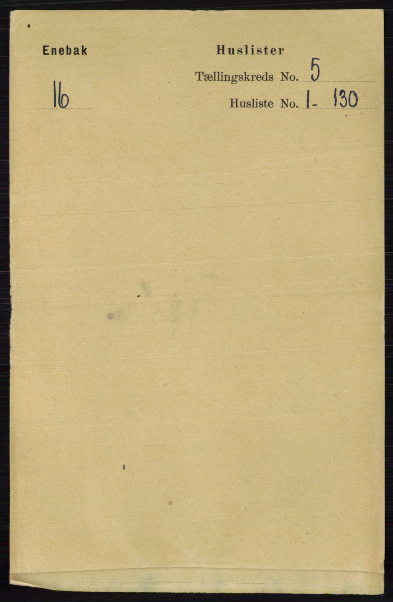 RA, Folketelling 1891 for 0229 Enebakk herred, 1891, s. 1842