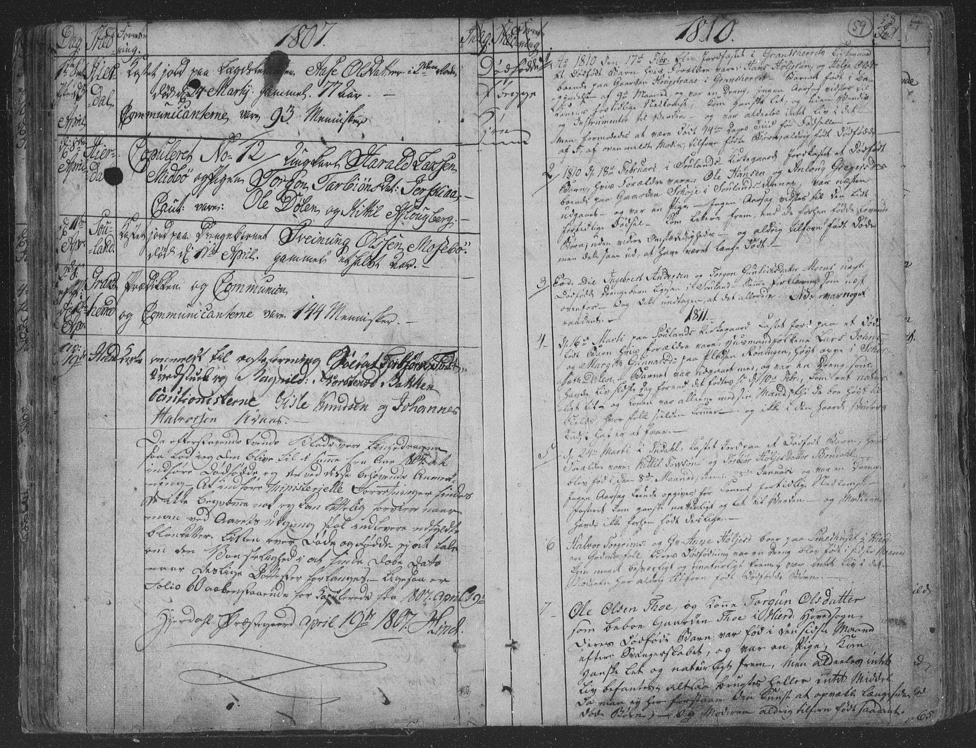 SAKO, Hjartdal kirkebøker, F/Fa/L0006: Ministerialbok nr. I 6, 1801-1814, s. 59