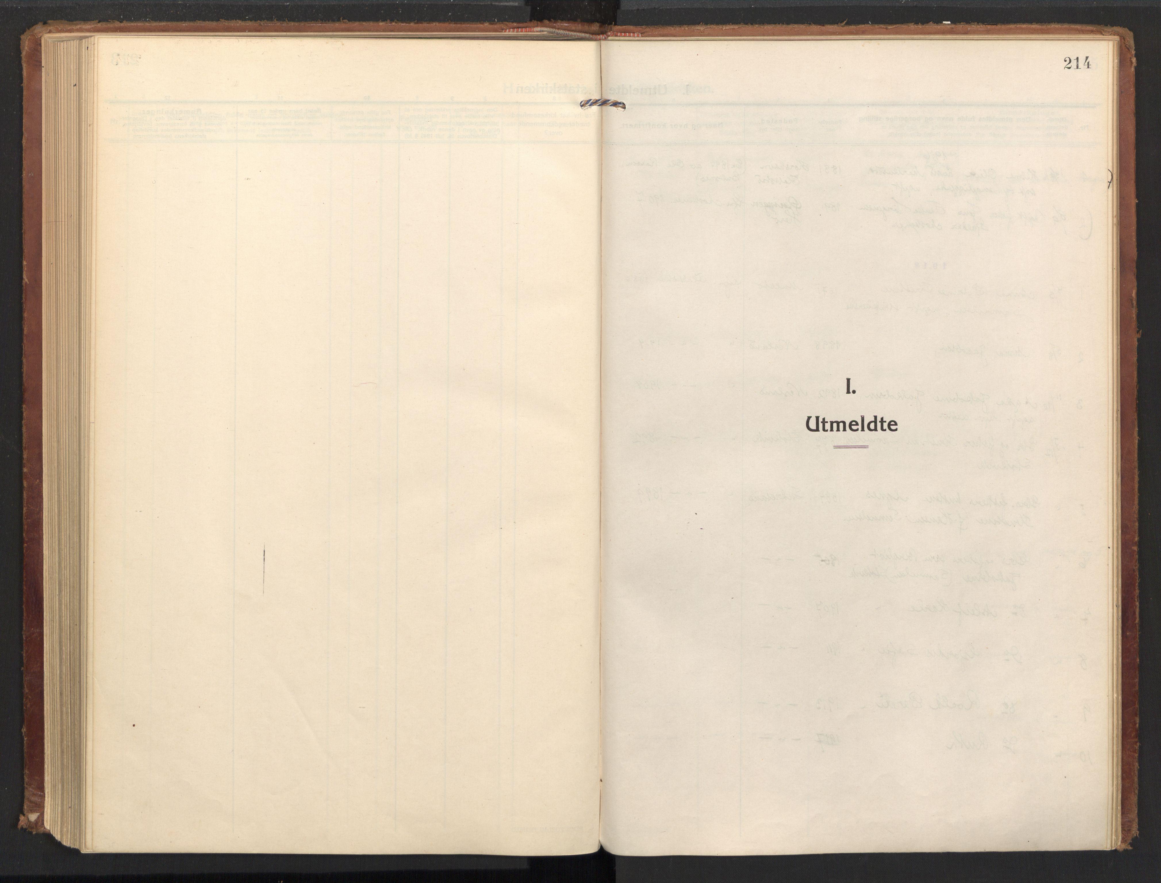 SAT, Ministerialprotokoller, klokkerbøker og fødselsregistre - Nordland, 885/L1210: Ministerialbok nr. 885A10, 1916-1926, s. 214