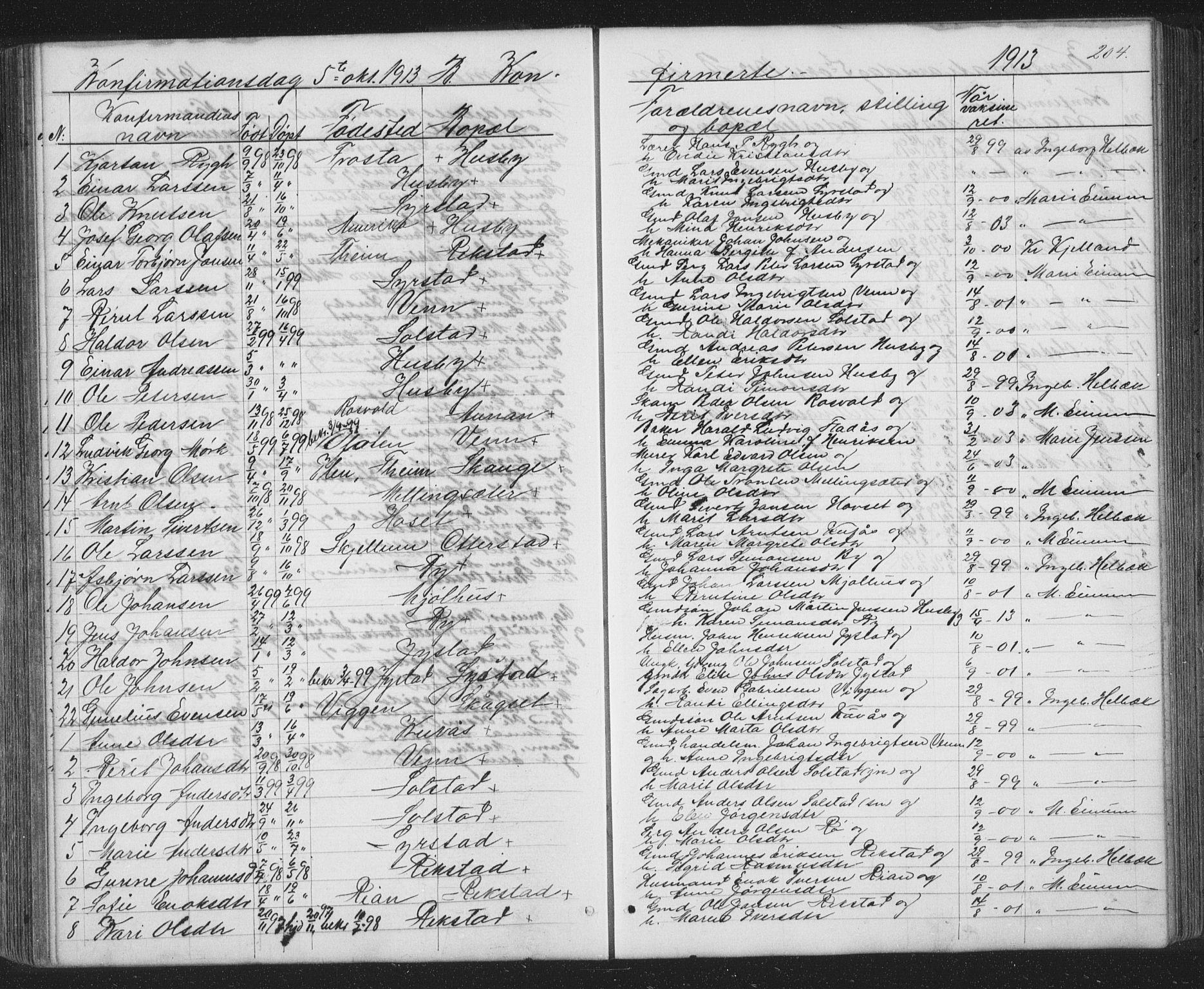 SAT, Ministerialprotokoller, klokkerbøker og fødselsregistre - Sør-Trøndelag, 667/L0798: Klokkerbok nr. 667C03, 1867-1929, s. 204