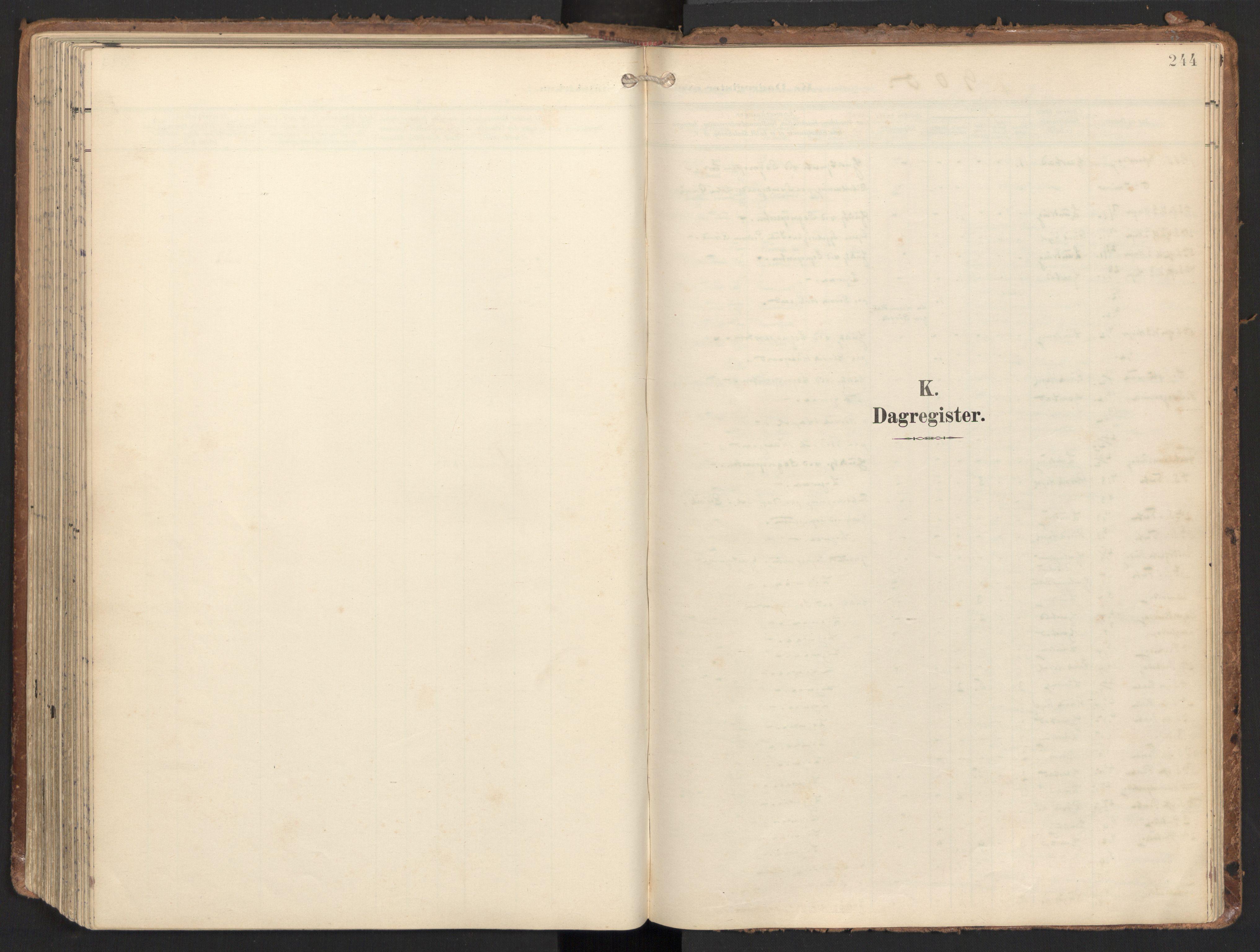 SAT, Ministerialprotokoller, klokkerbøker og fødselsregistre - Nord-Trøndelag, 784/L0677: Ministerialbok nr. 784A12, 1900-1920, s. 244