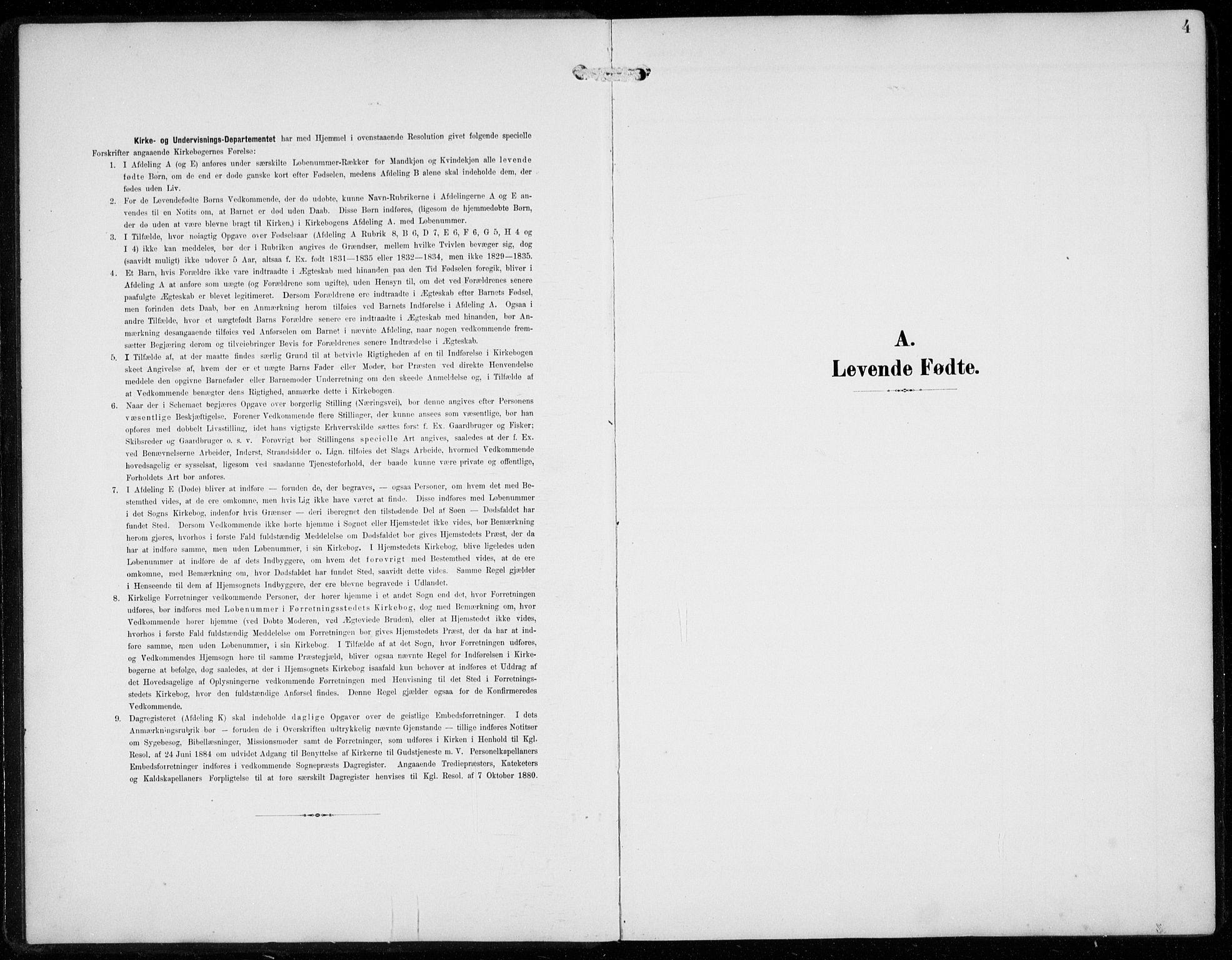 SAB, Ullensvang Sokneprestembete, H/Hab: Klokkerbok nr. F  1, 1902-1935, s. 4