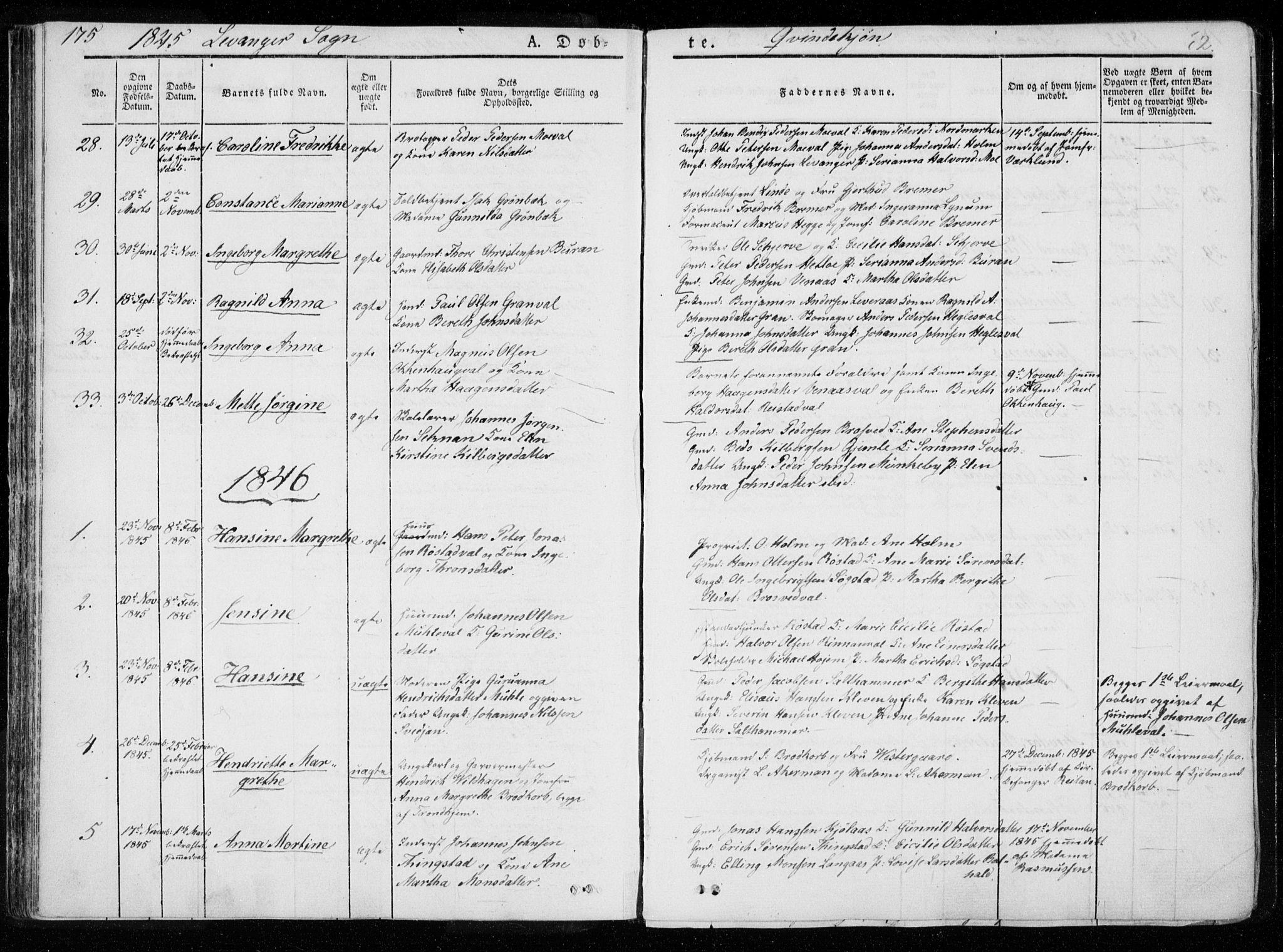 SAT, Ministerialprotokoller, klokkerbøker og fødselsregistre - Nord-Trøndelag, 720/L0183: Ministerialbok nr. 720A01, 1836-1855, s. 62