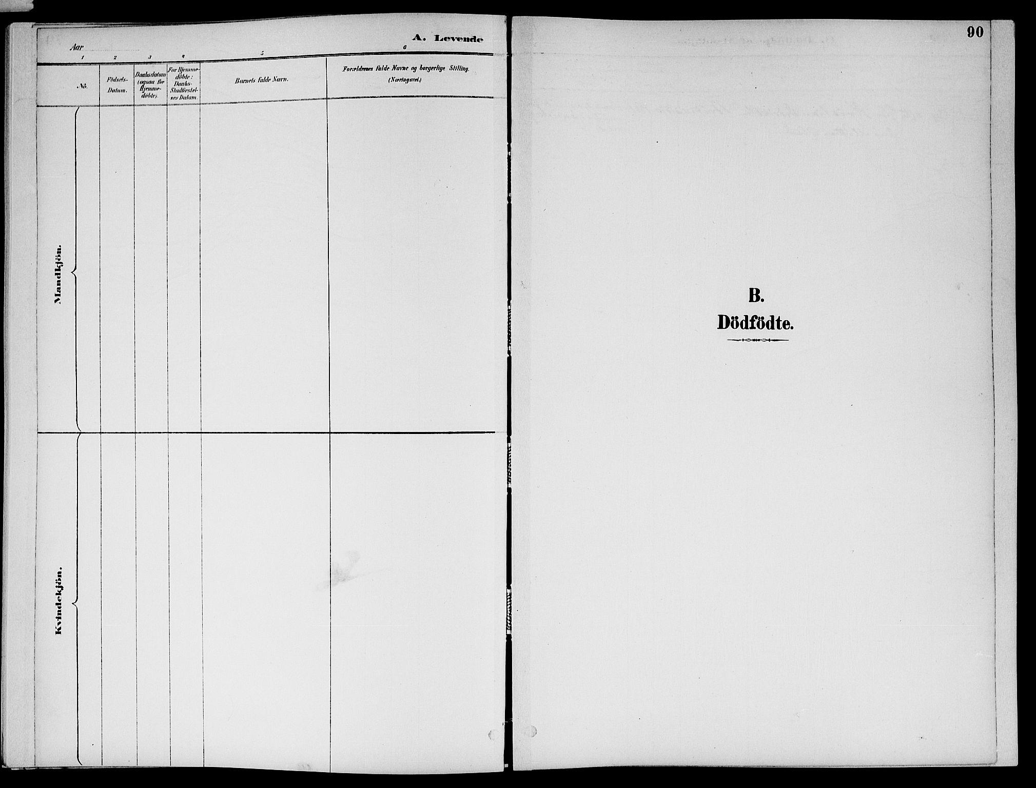 SAT, Ministerialprotokoller, klokkerbøker og fødselsregistre - Nord-Trøndelag, 773/L0617: Ministerialbok nr. 773A08, 1887-1910, s. 90