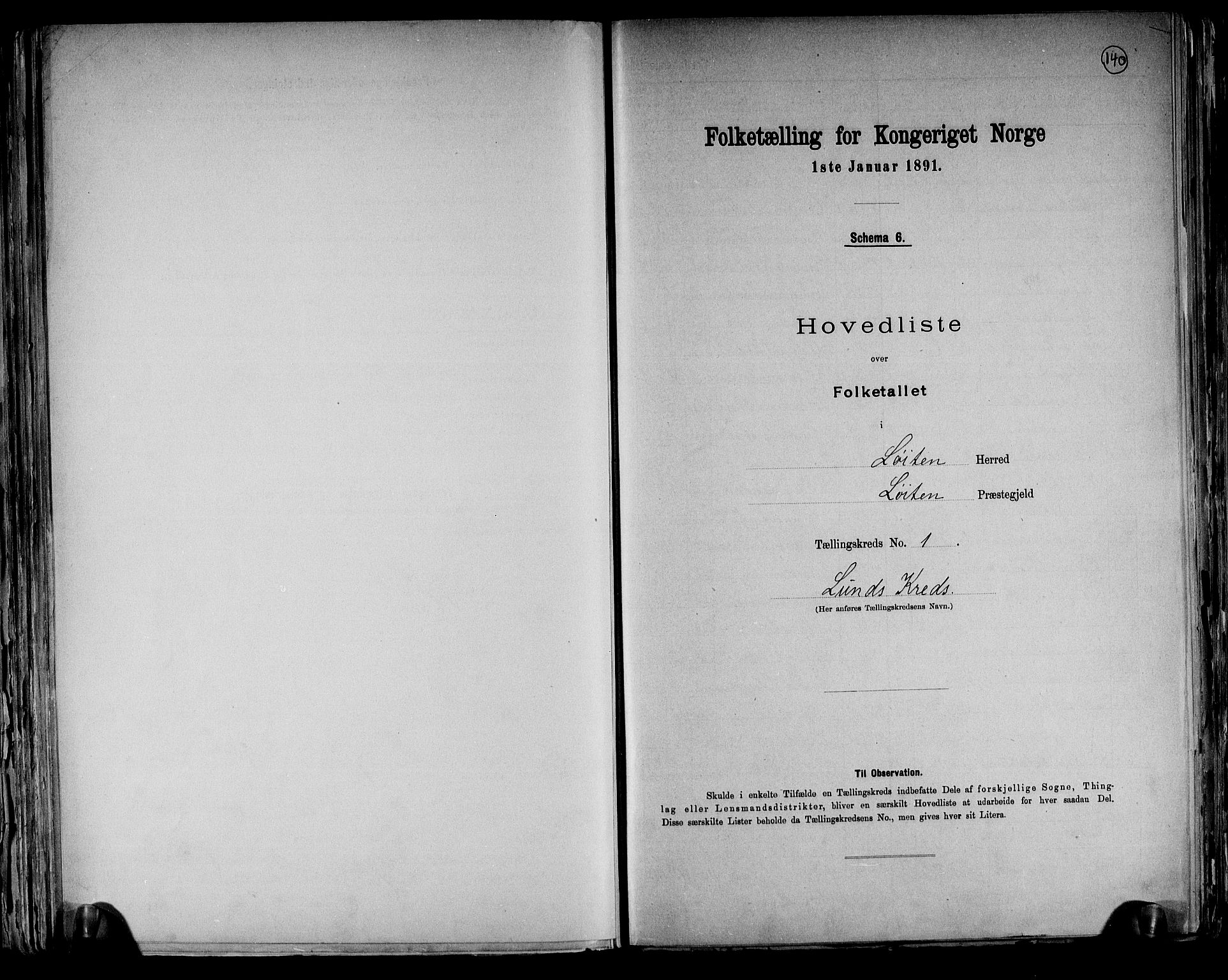 RA, Folketelling 1891 for 0415 Løten herred, 1891, s. 4
