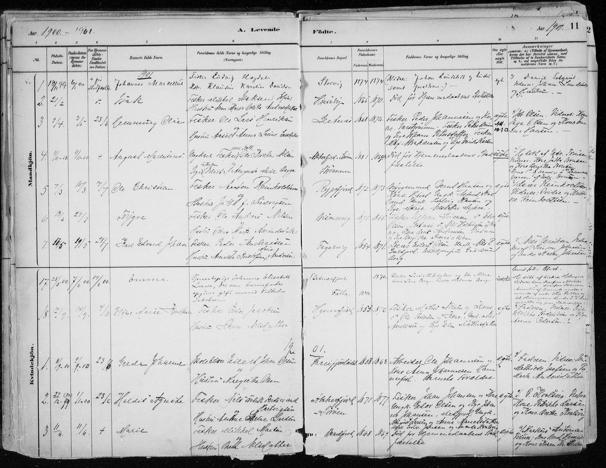 SATØ, Hammerfest sokneprestkontor, H/Ha/L0013.kirke: Ministerialbok nr. 13, 1898-1917, s. 11