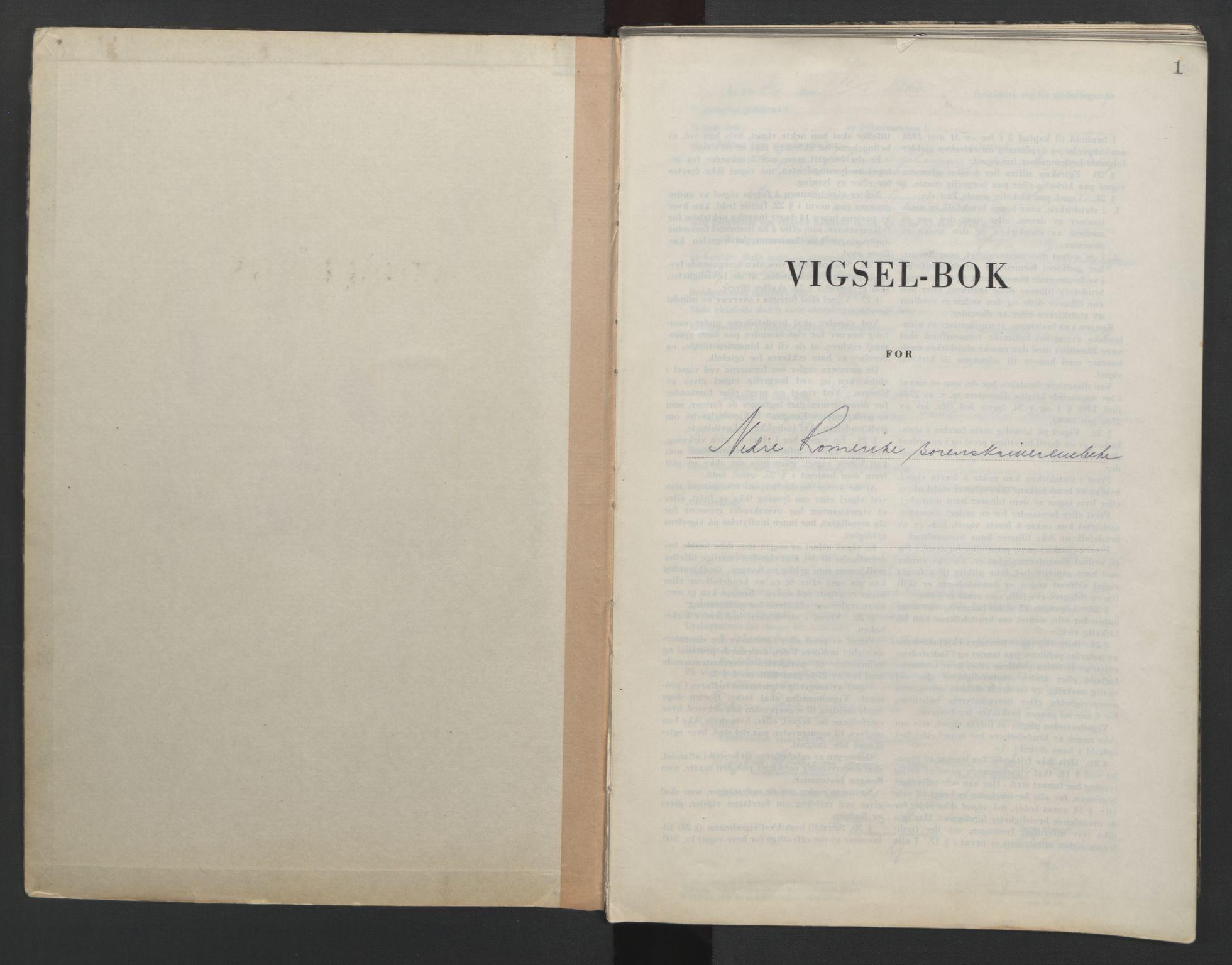 SAO, Nedre Romerike sorenskriveri, L/Lb/L0007: Vigselsbok - borgerlige vielser, 1946-1950, s. 1