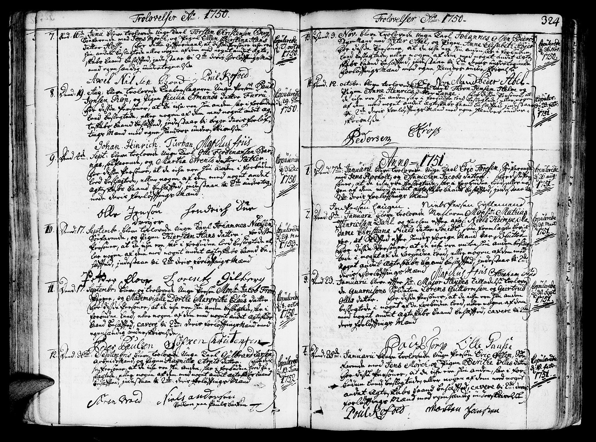 SAT, Ministerialprotokoller, klokkerbøker og fødselsregistre - Sør-Trøndelag, 602/L0103: Ministerialbok nr. 602A01, 1732-1774, s. 324