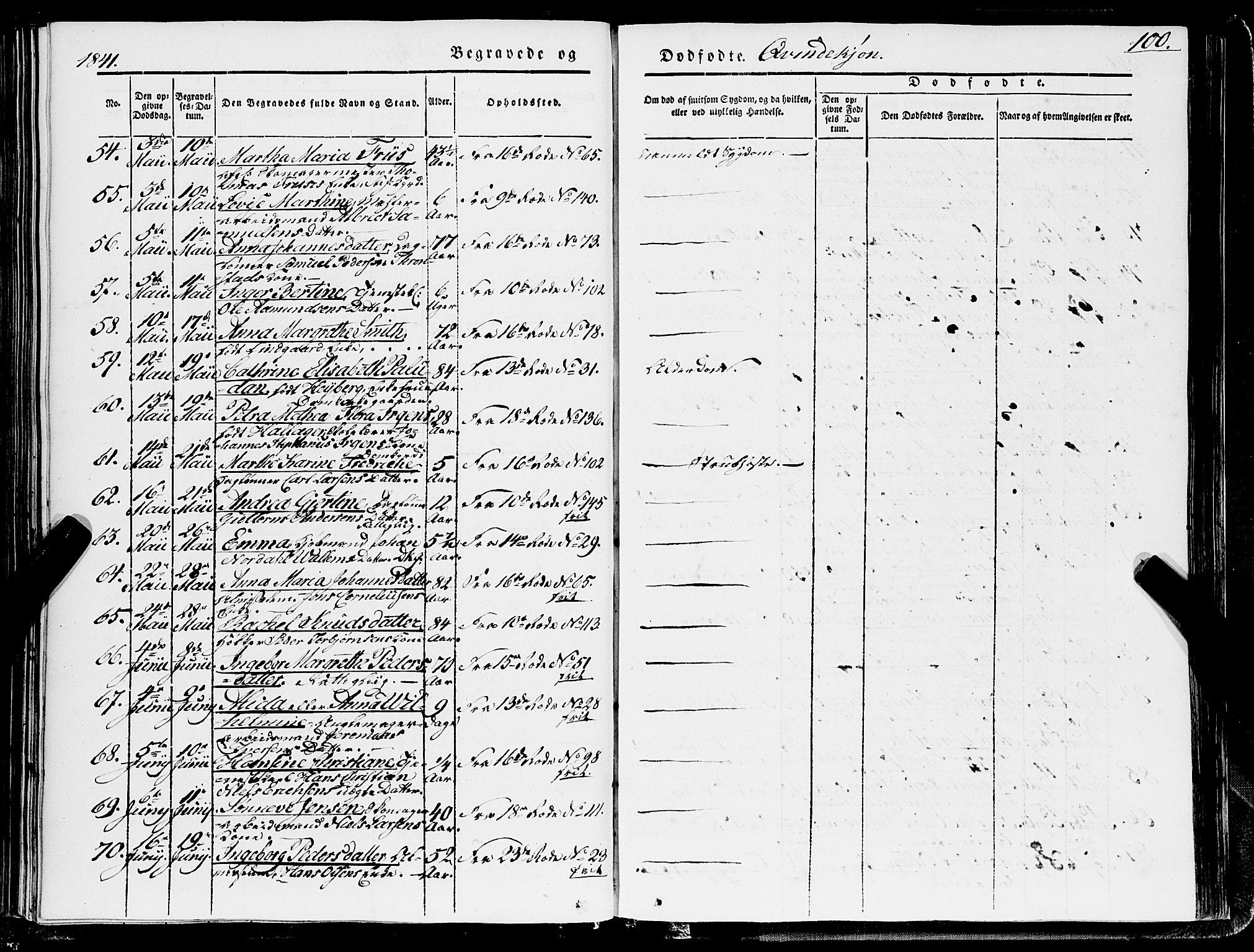 SAB, Domkirken sokneprestembete, H/Haa/L0040: Ministerialbok nr. E 1, 1841-1853, s. 100
