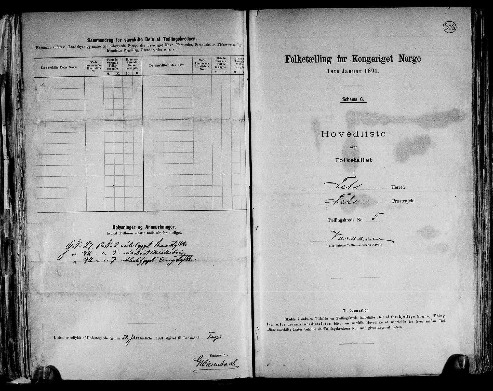 RA, Folketelling 1891 for 0227 Fet herred, 1891, s. 12